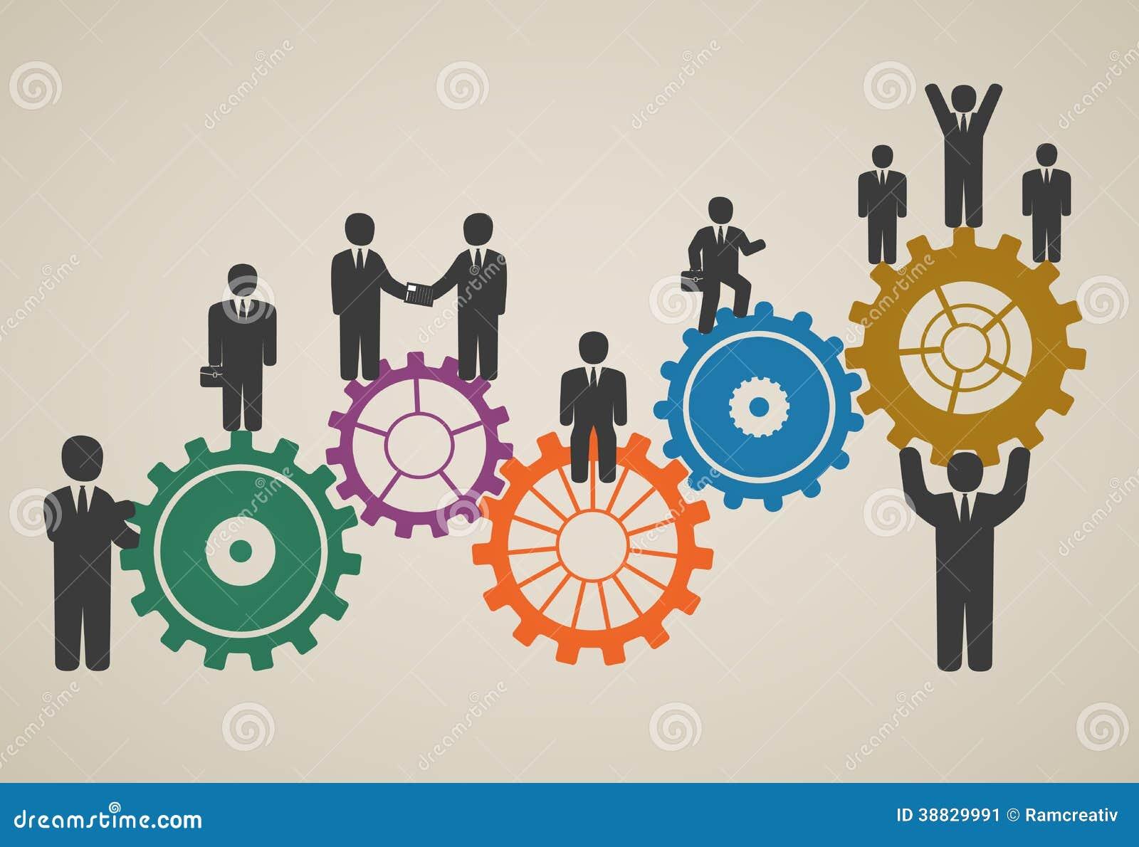 Рабочая сила, деятельность команды, бизнесмены в движении
