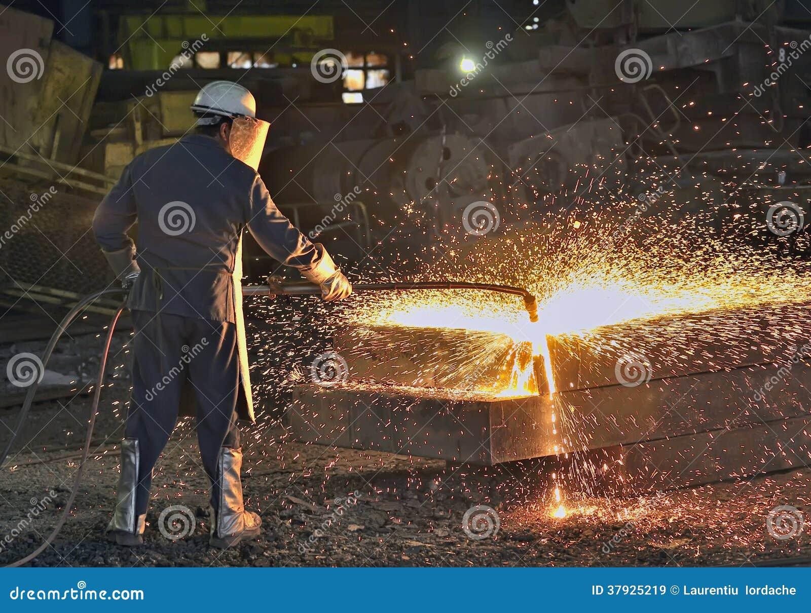 Рабочий сталелитейной промышленности