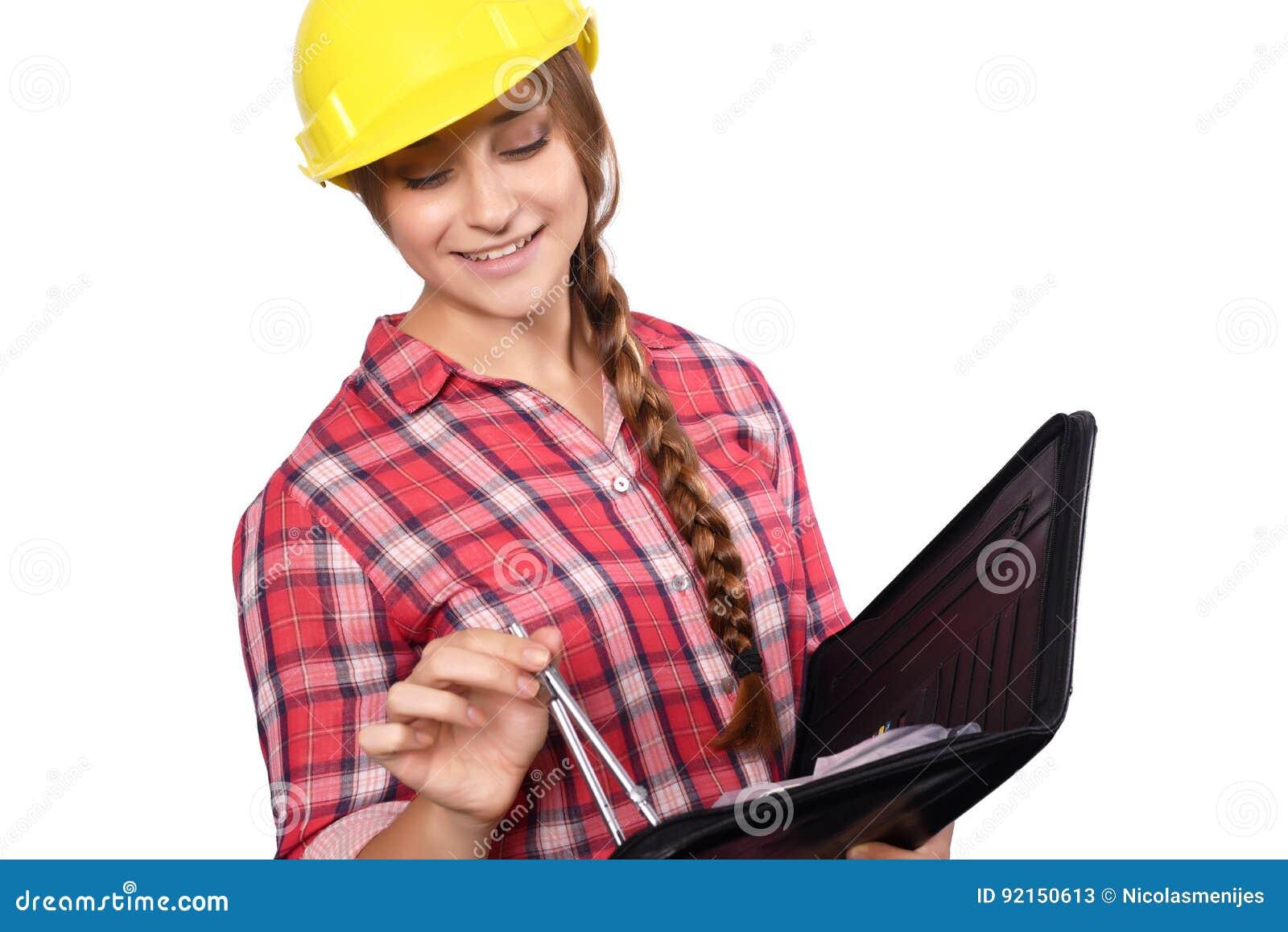 Рабочий-строитель женщины