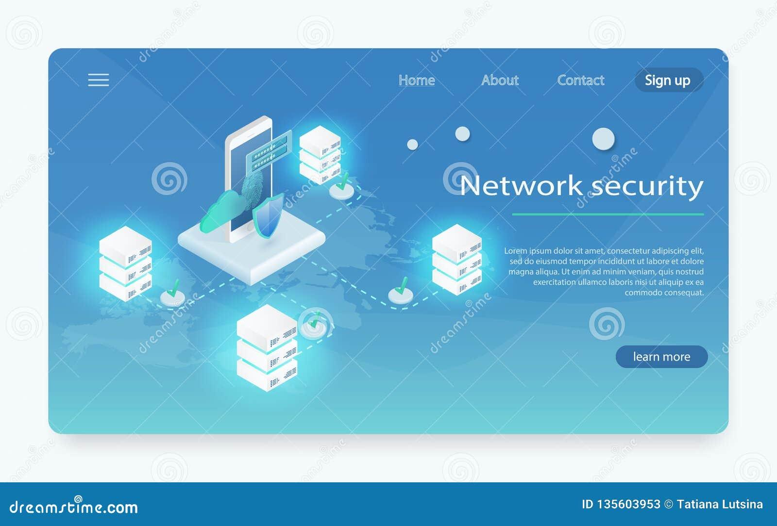 Равновеликая личная концепция знамени сети защиты данных Преобразование данных концепции большое, станция энергии будущего