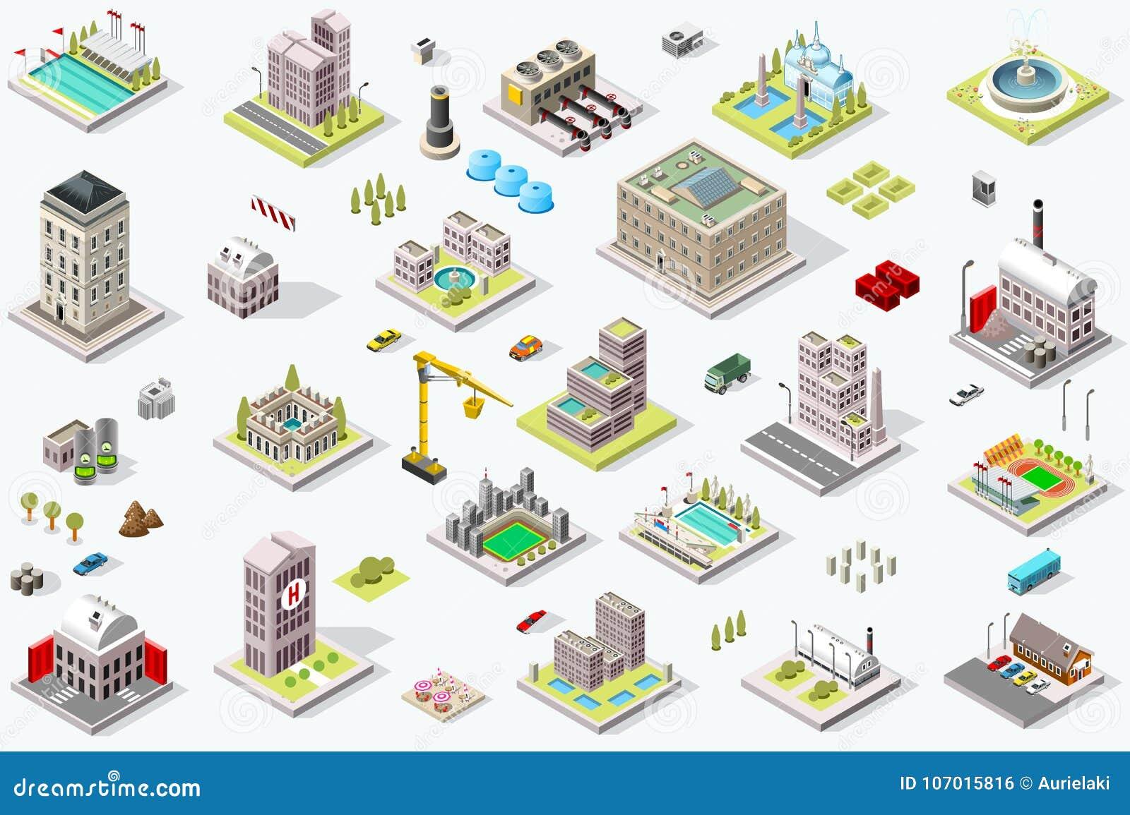 Равновеликий ориентир ориентир значков здания города