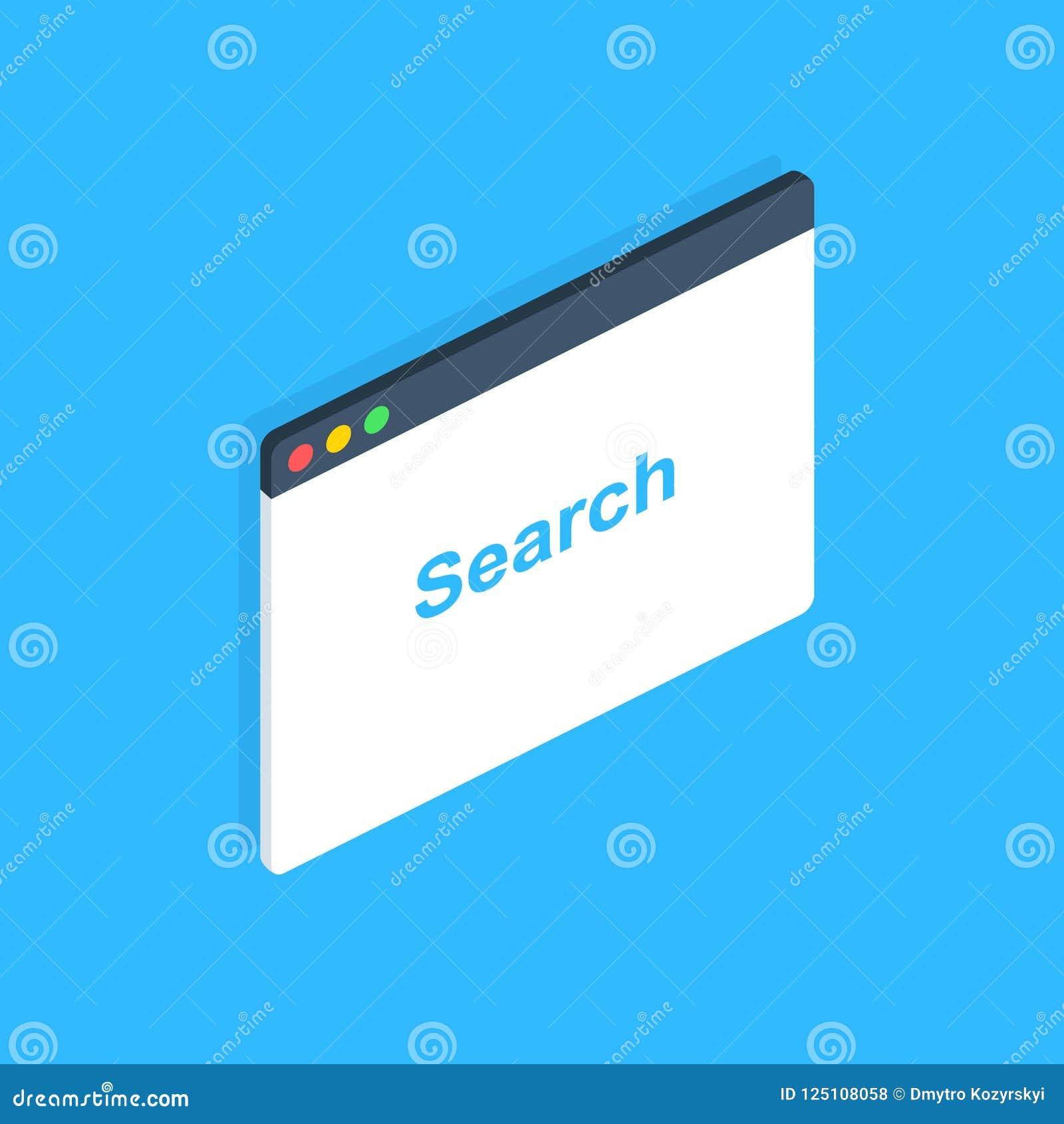 Равновеликое окно браузера Браузер в плоском стиле Интернет-браузер концепции окна Дизайн экрана модель-макета вектор