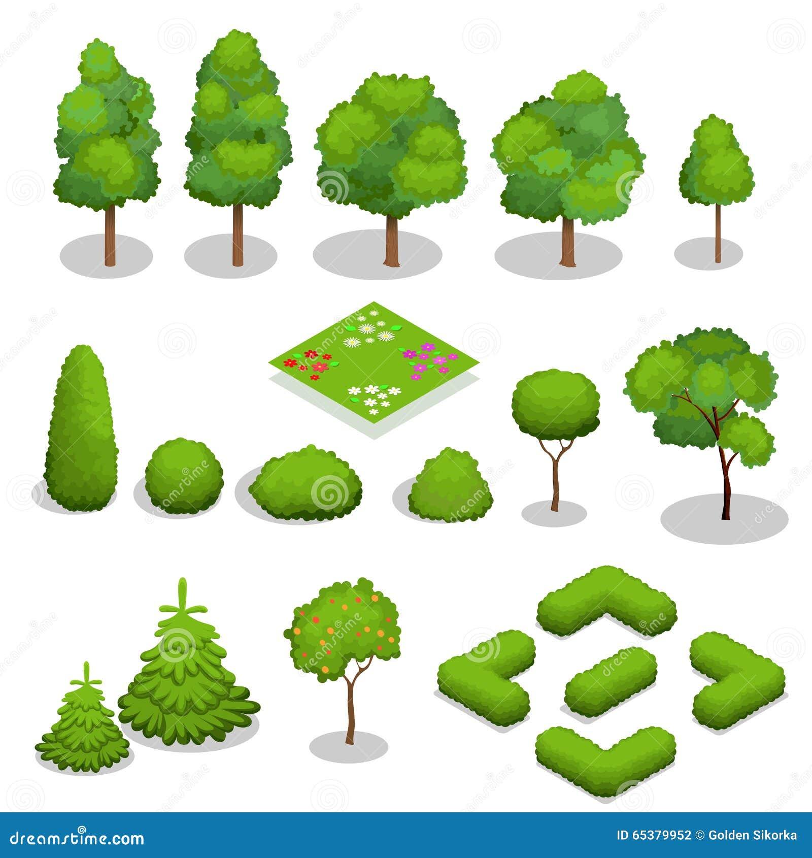 Равновеликие элементы деревьев вектора для ландшафта