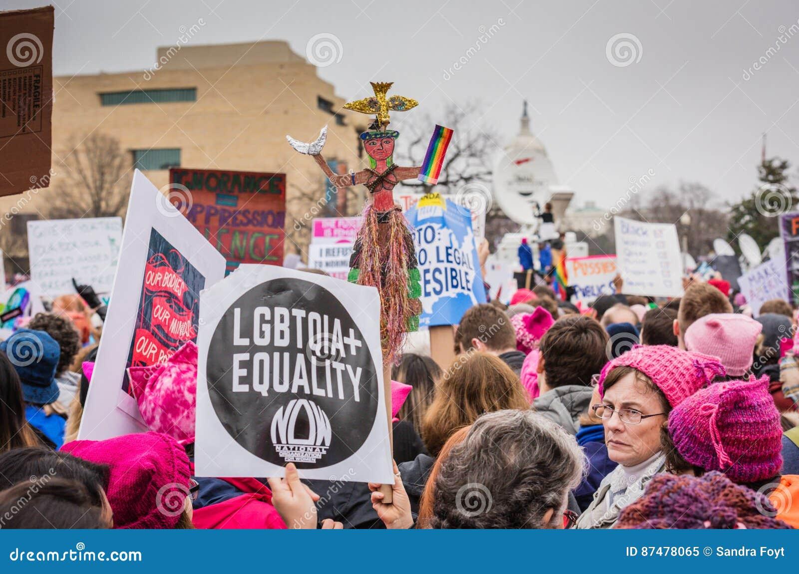 Равность LGBTQIA - DC Womens марта - Вашингтона
