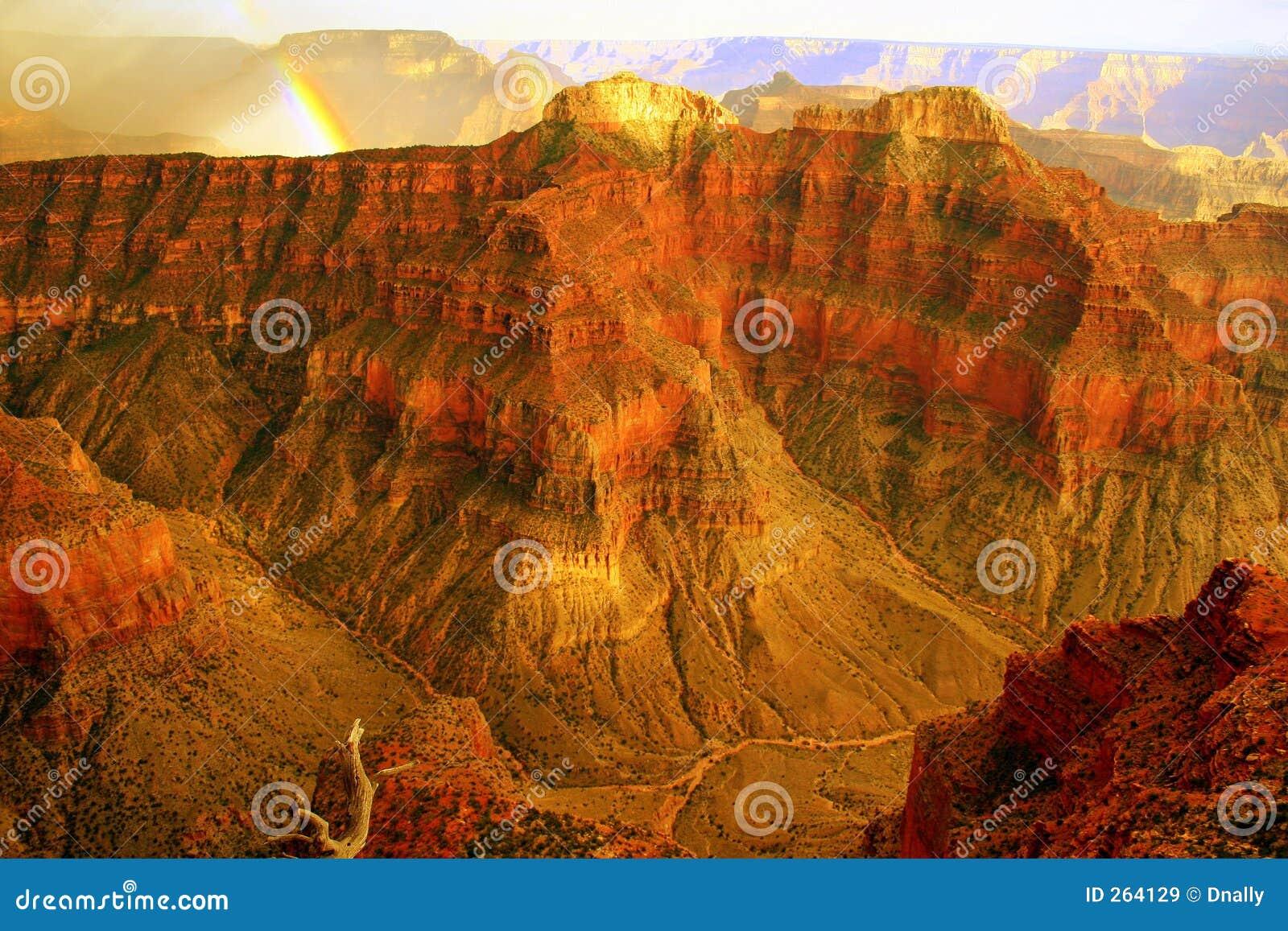радуга гениального каньона грандиозная