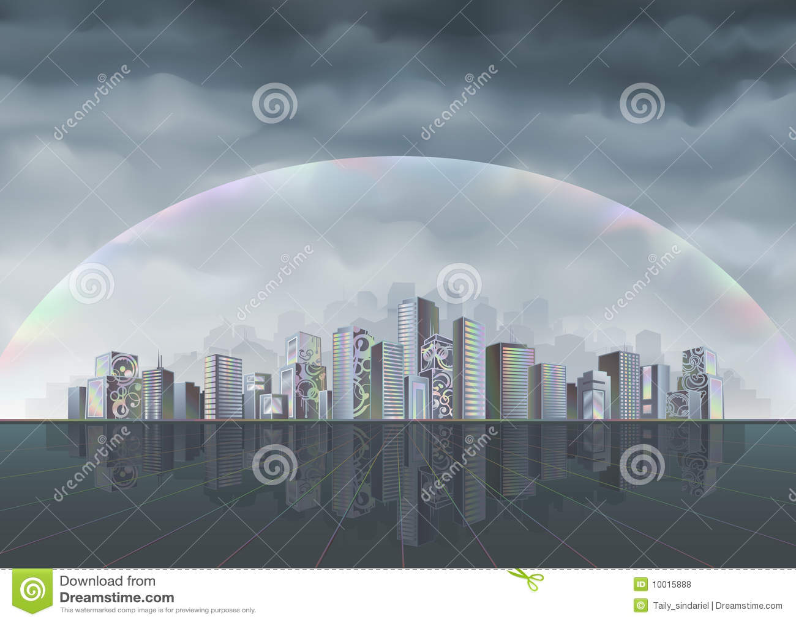радуга города