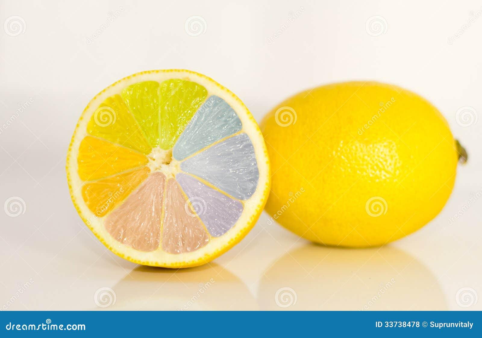 Радуга на лимоне