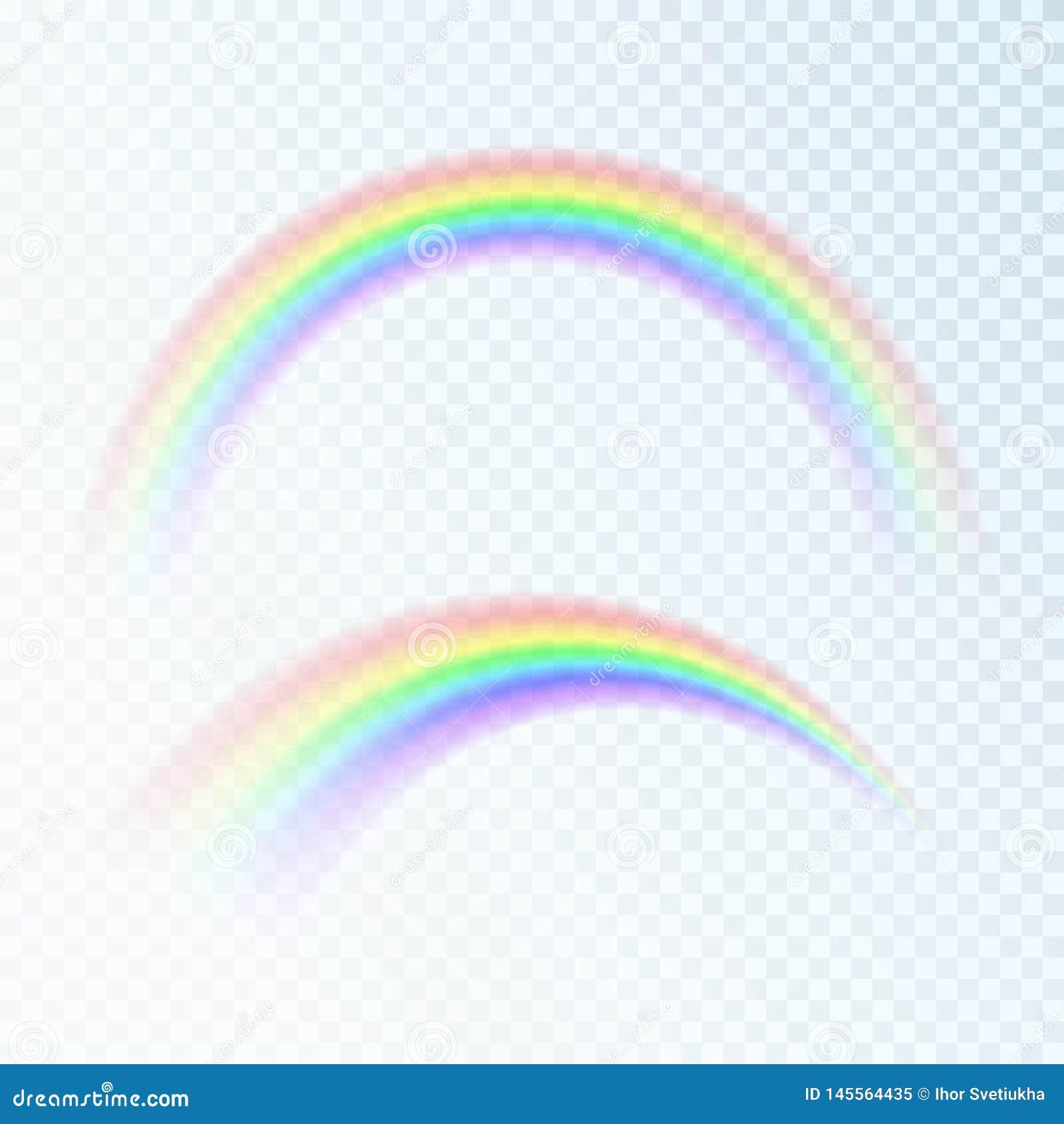 Радуга цвета абстрактная Спектр света, 7 цветов Иллюстрация вектора изолированная на прозрачной предпосылке