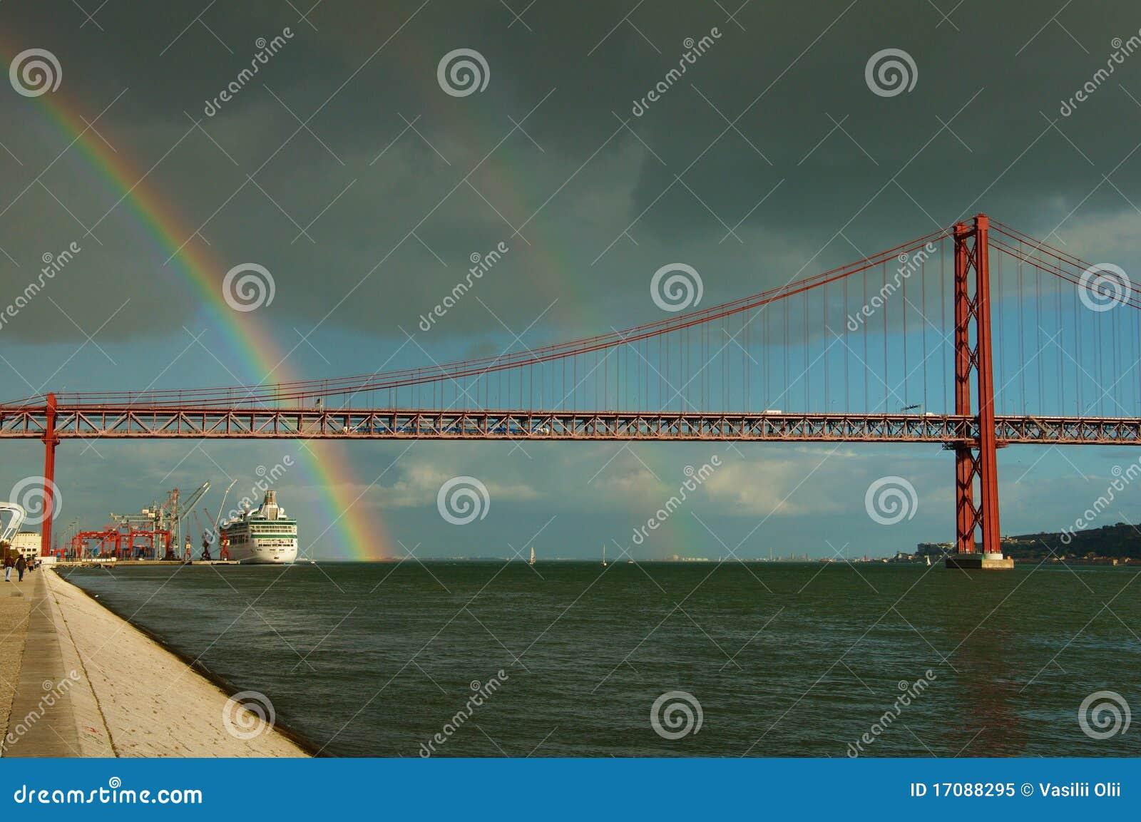 радуга lisbon Португалии
