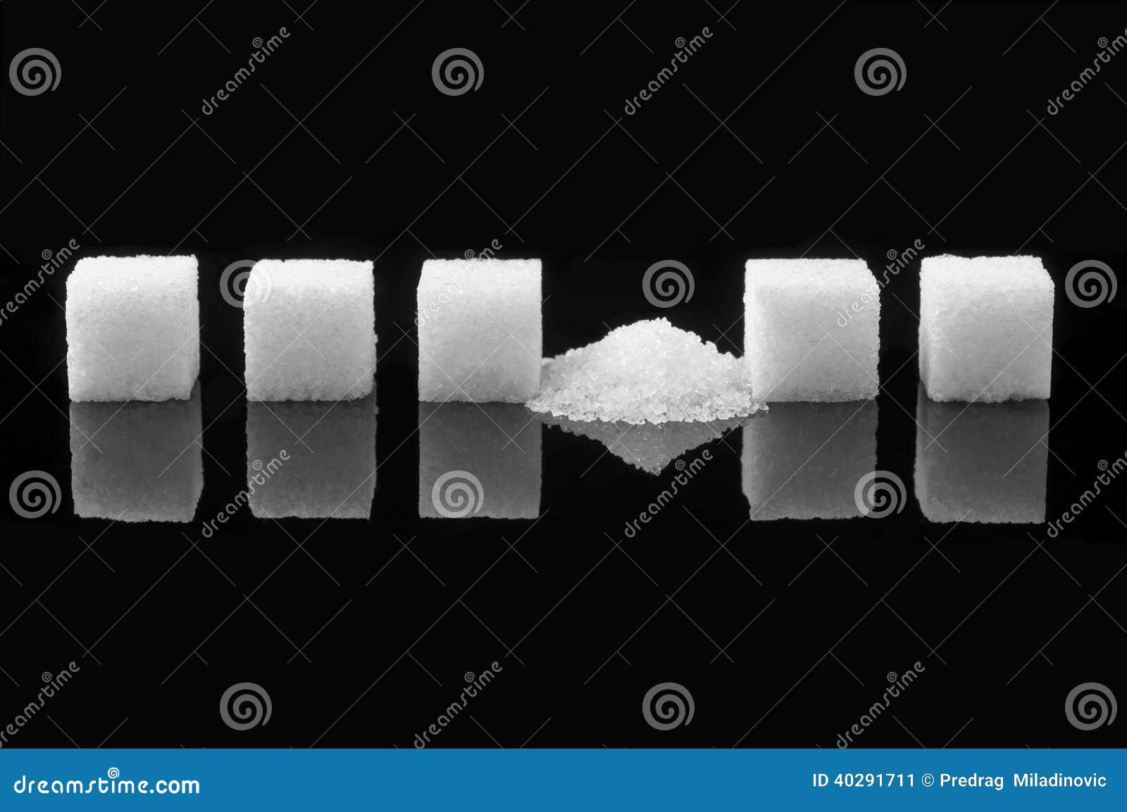 Разбили куб сахара