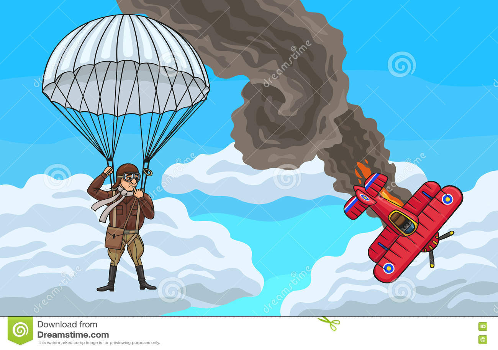 Download Разбили самолет-биплан, который Иллюстрация вектора - иллюстрации насчитывающей airshow, вспомогательную: 72299956
