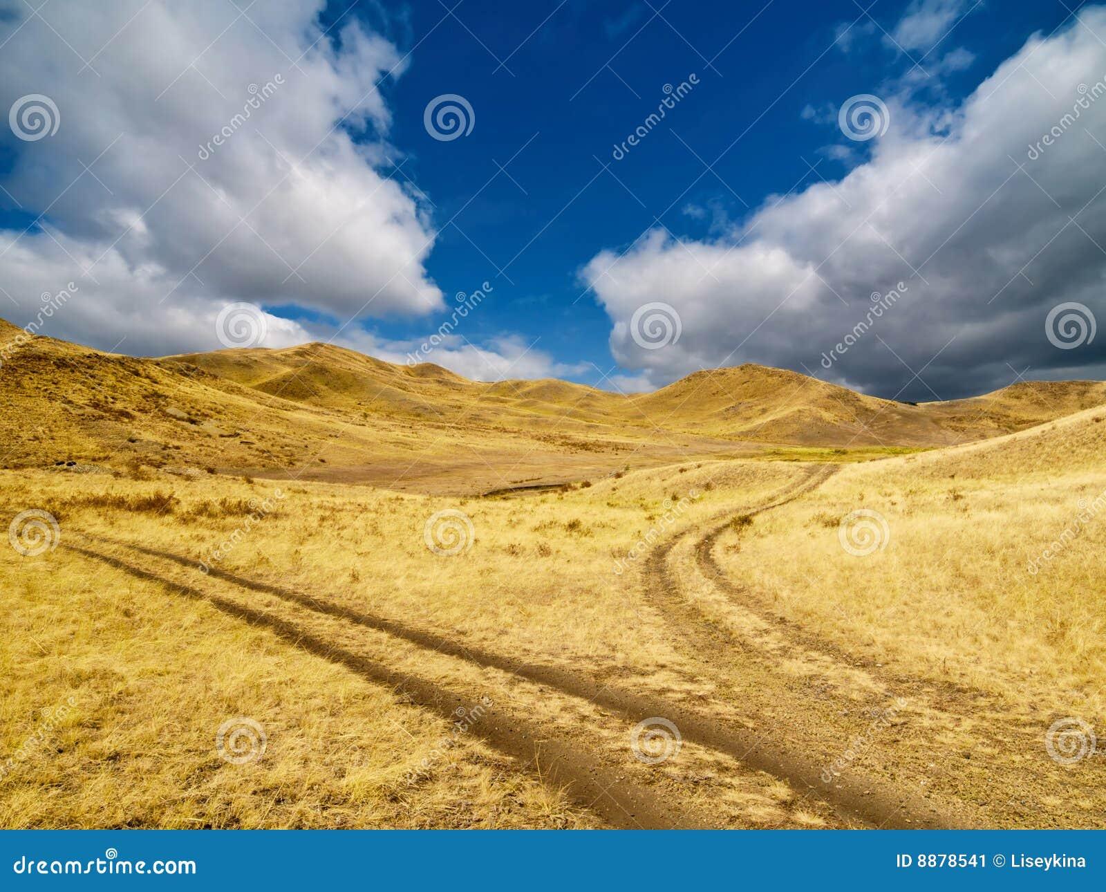развлетвлянная дорога горного склона