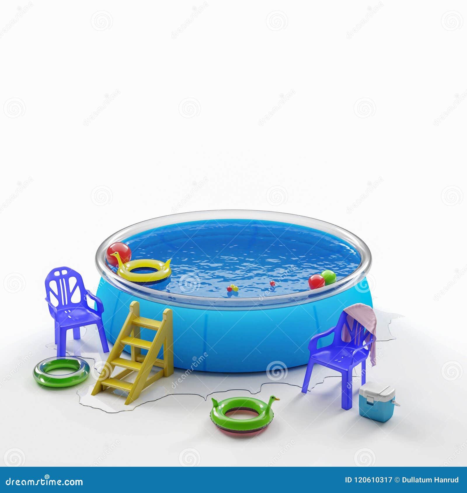 Раздувные бассейн и игрушки