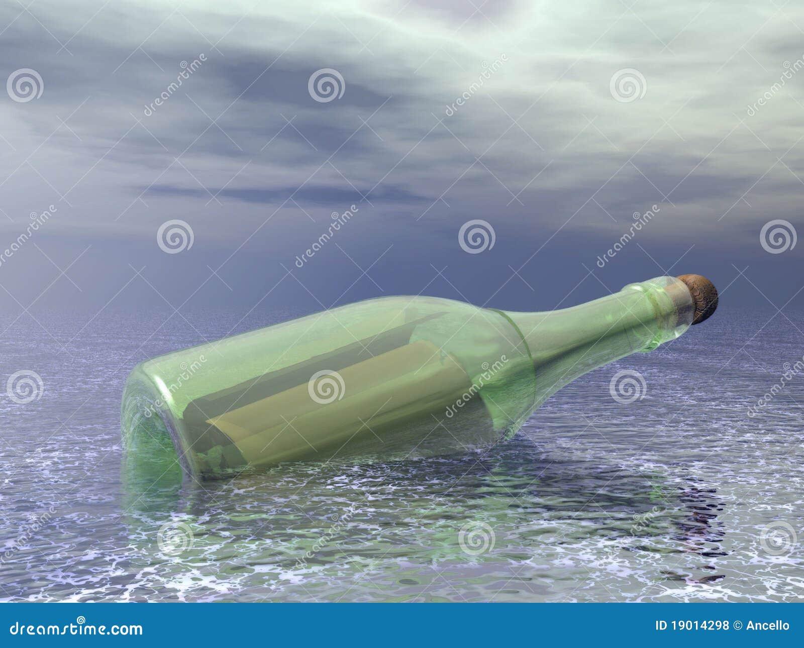 разлейте сообщение по бутылкам