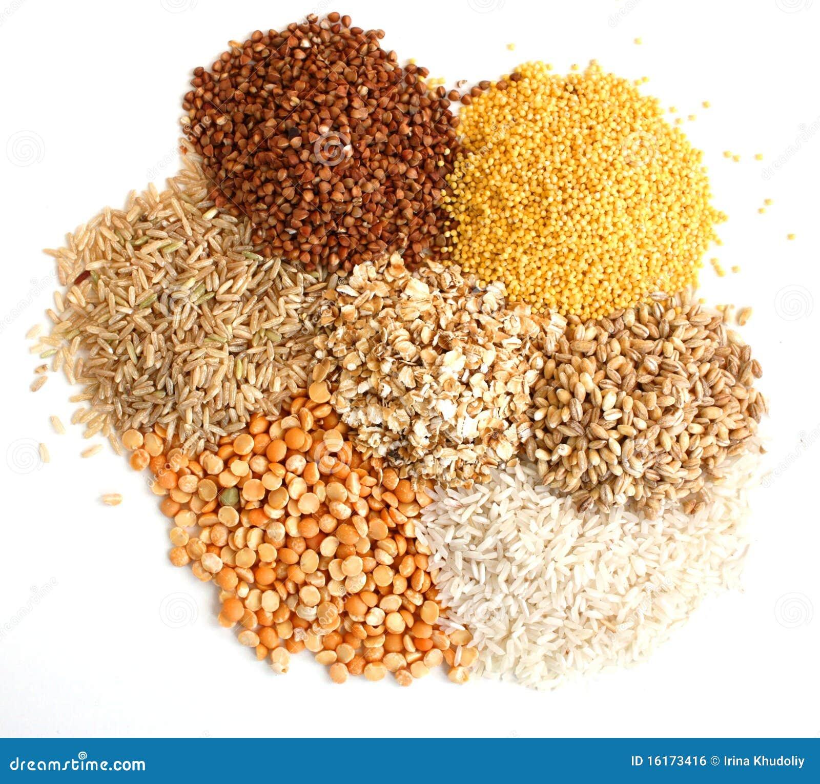 различные виды зерна