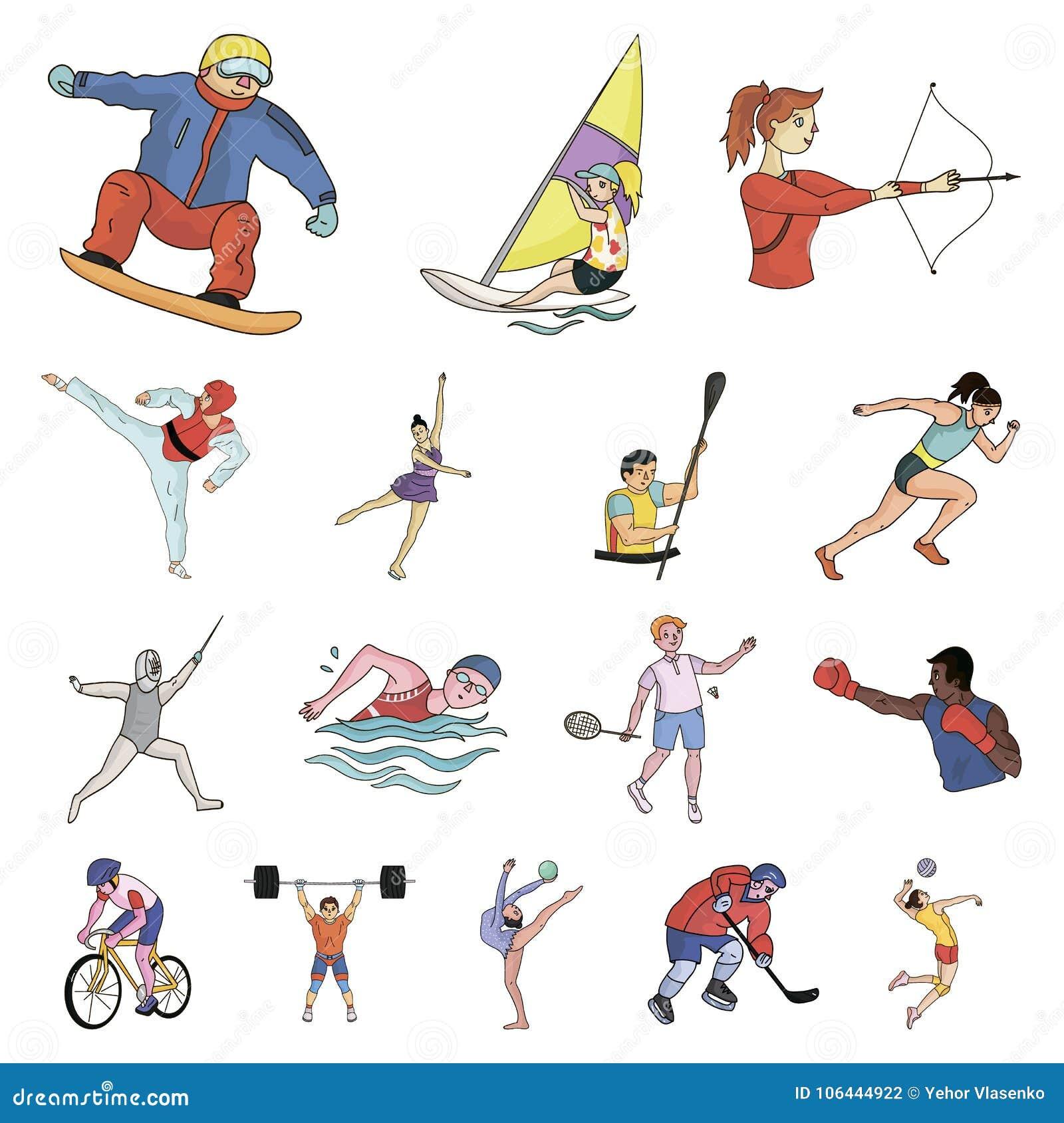 Виды спорта по алфавиту в картинках