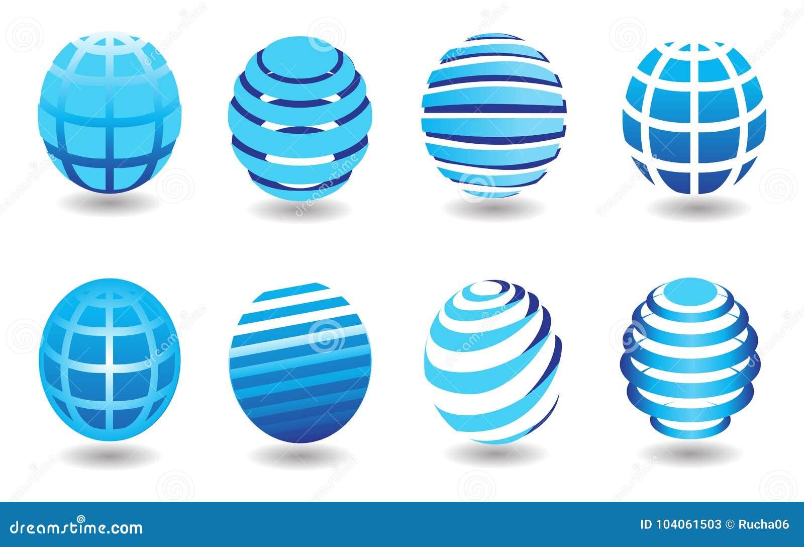 Различные круглые форменные символы земли