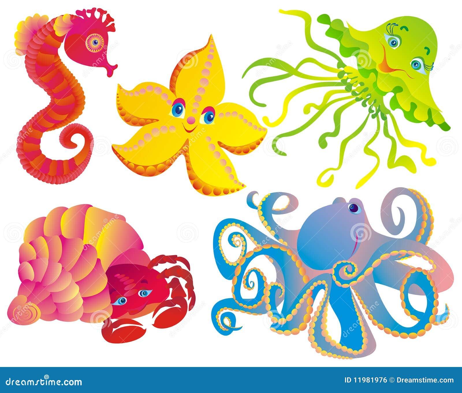 различные млекопитающие много море