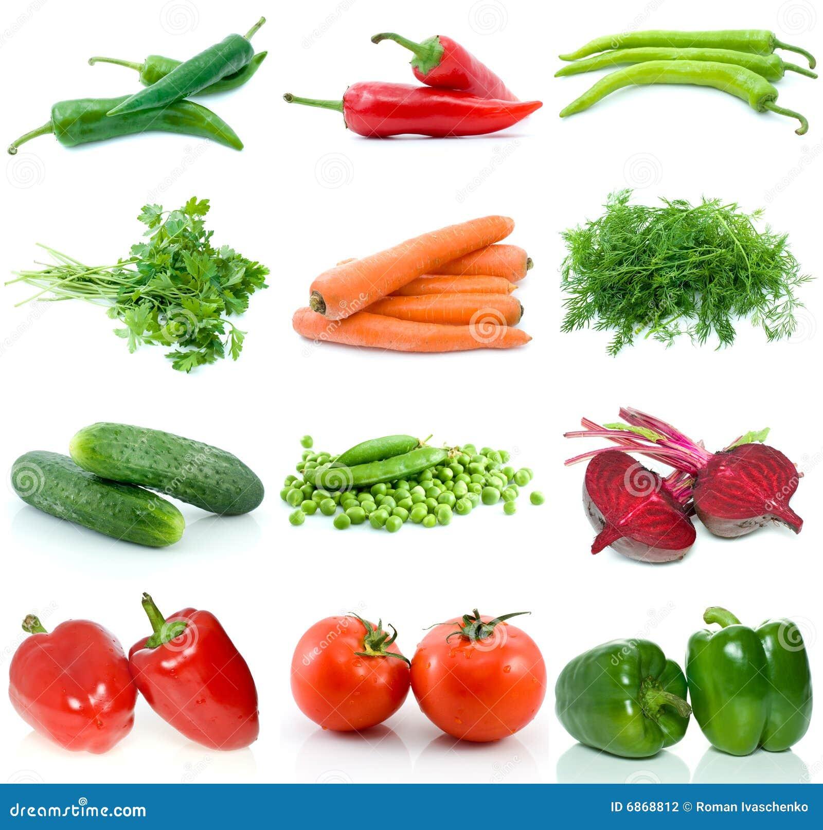 различные овощи комплекта