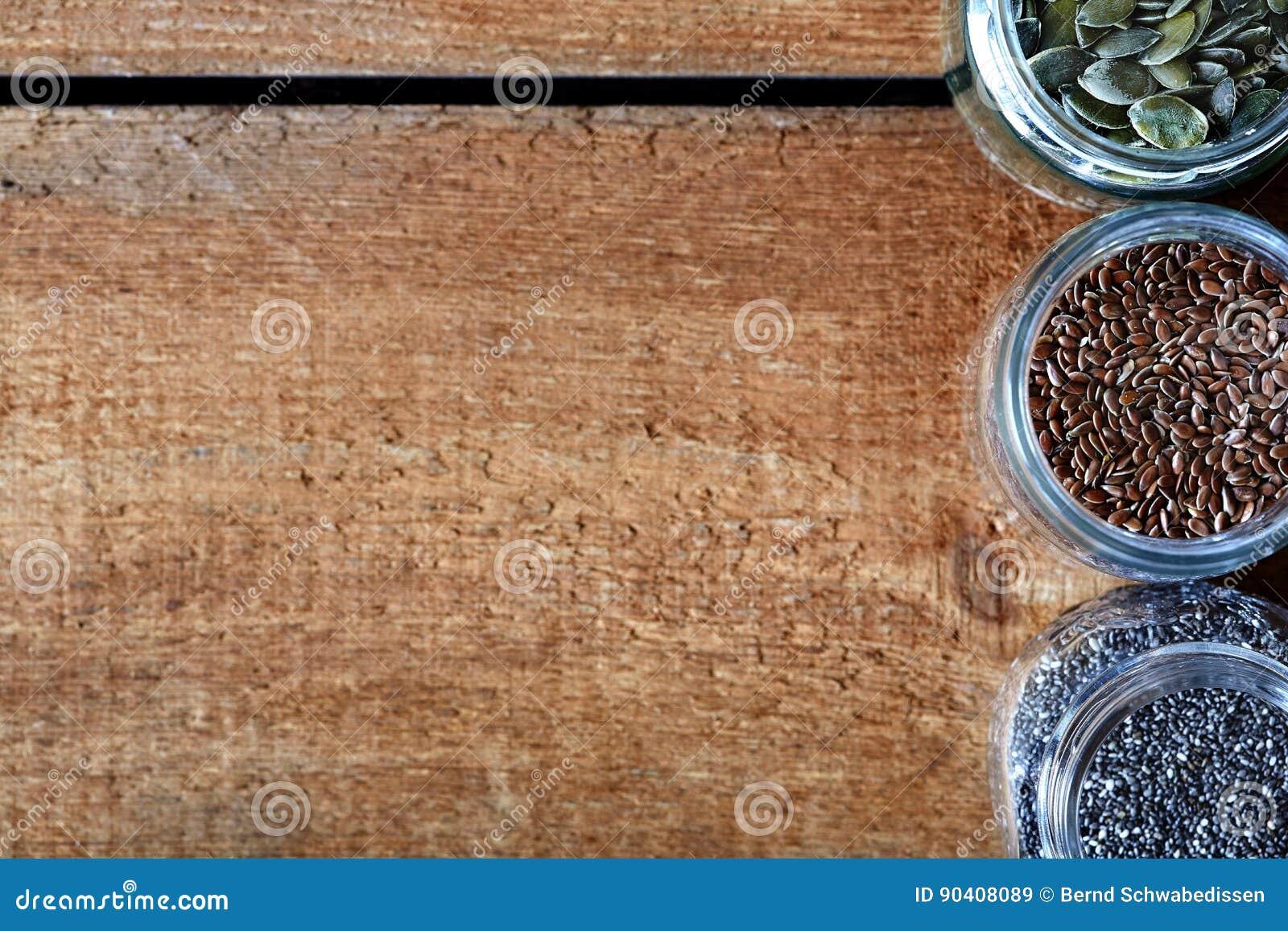 Разнообразие питания зерен здорового органического