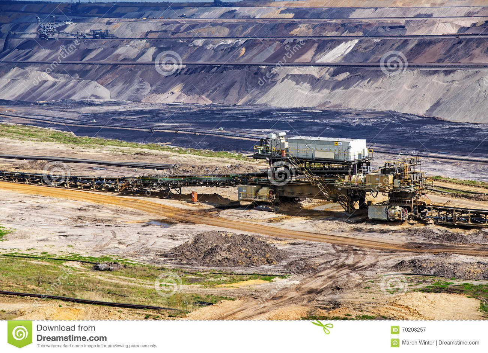 Разработка горных пластов лигнита (бурого угля) в Garzweiler, Германии