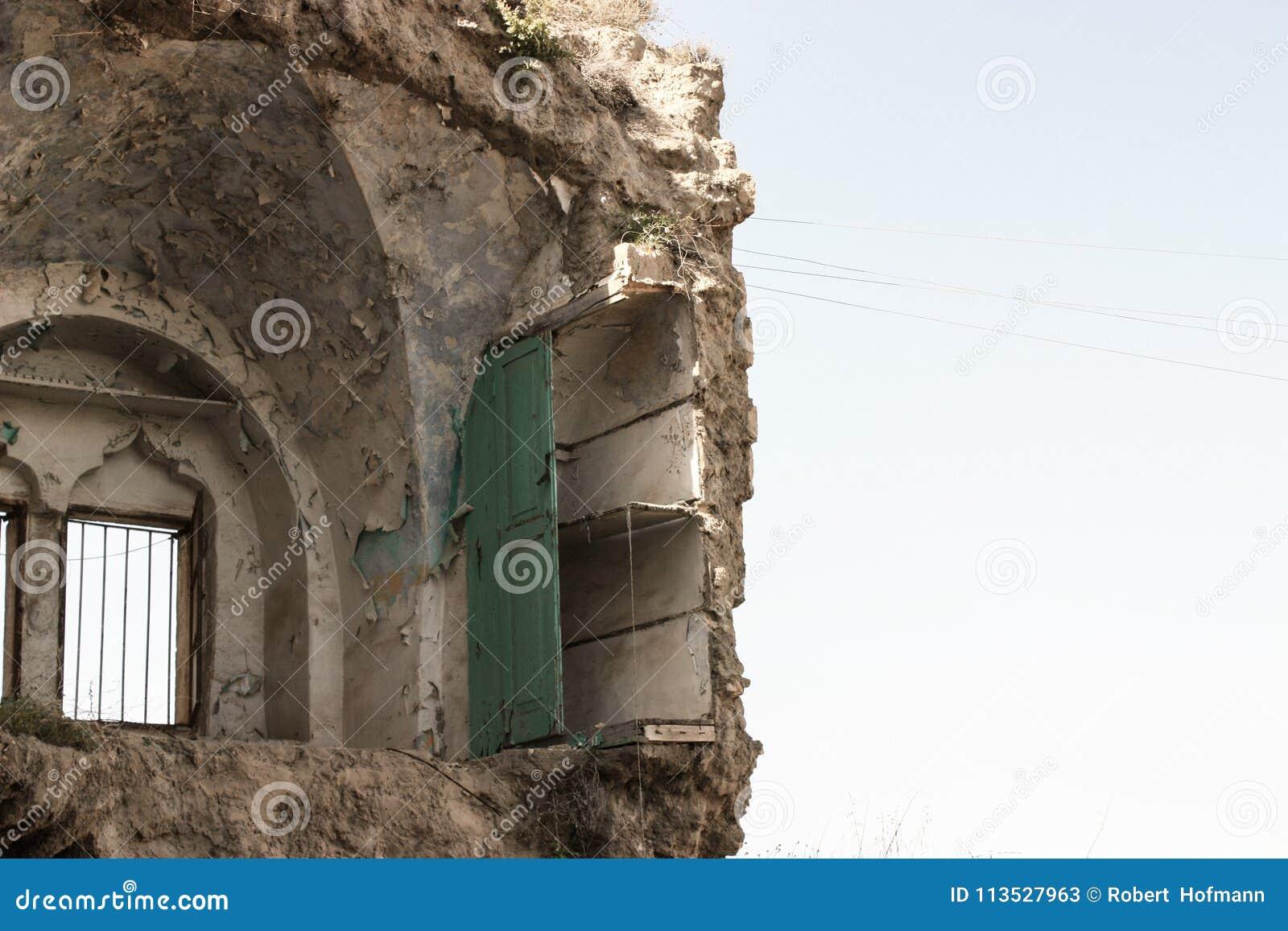 Разрушенный палестинский дом израильским воздухом сил обороны strikeDestroyed палестинские дом или дом израильскими силами оборон