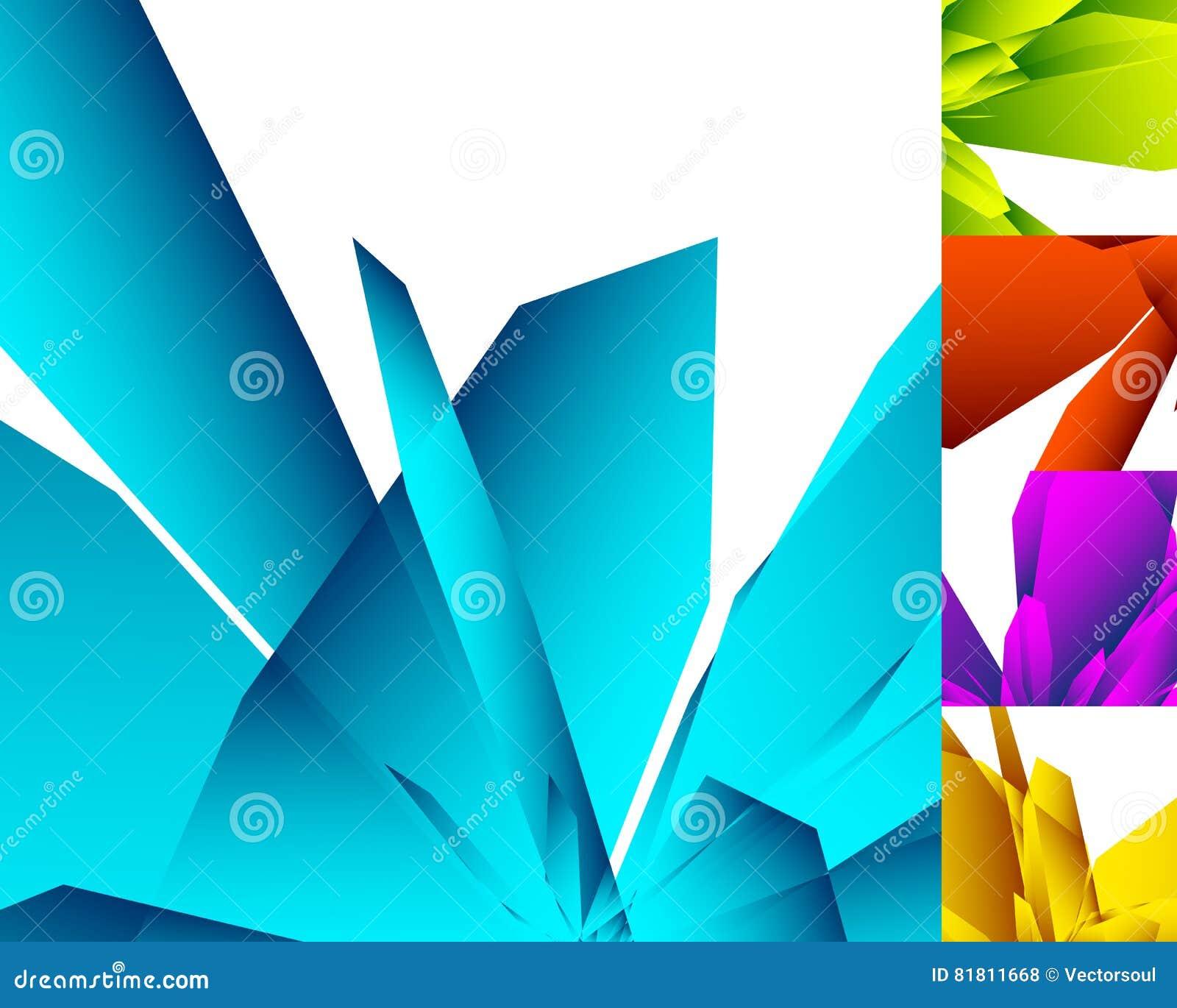 различная абстрактная геометрическая предпосылка 5 в цвете 5