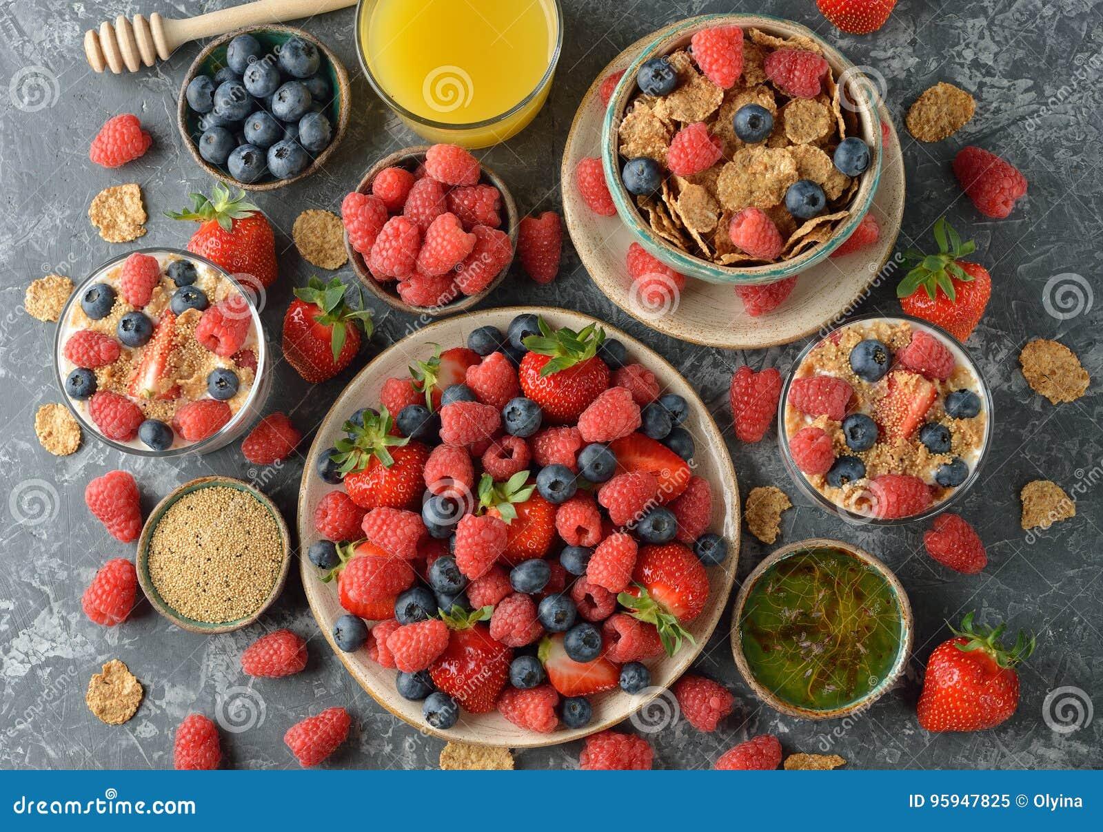 Различная здоровая еда