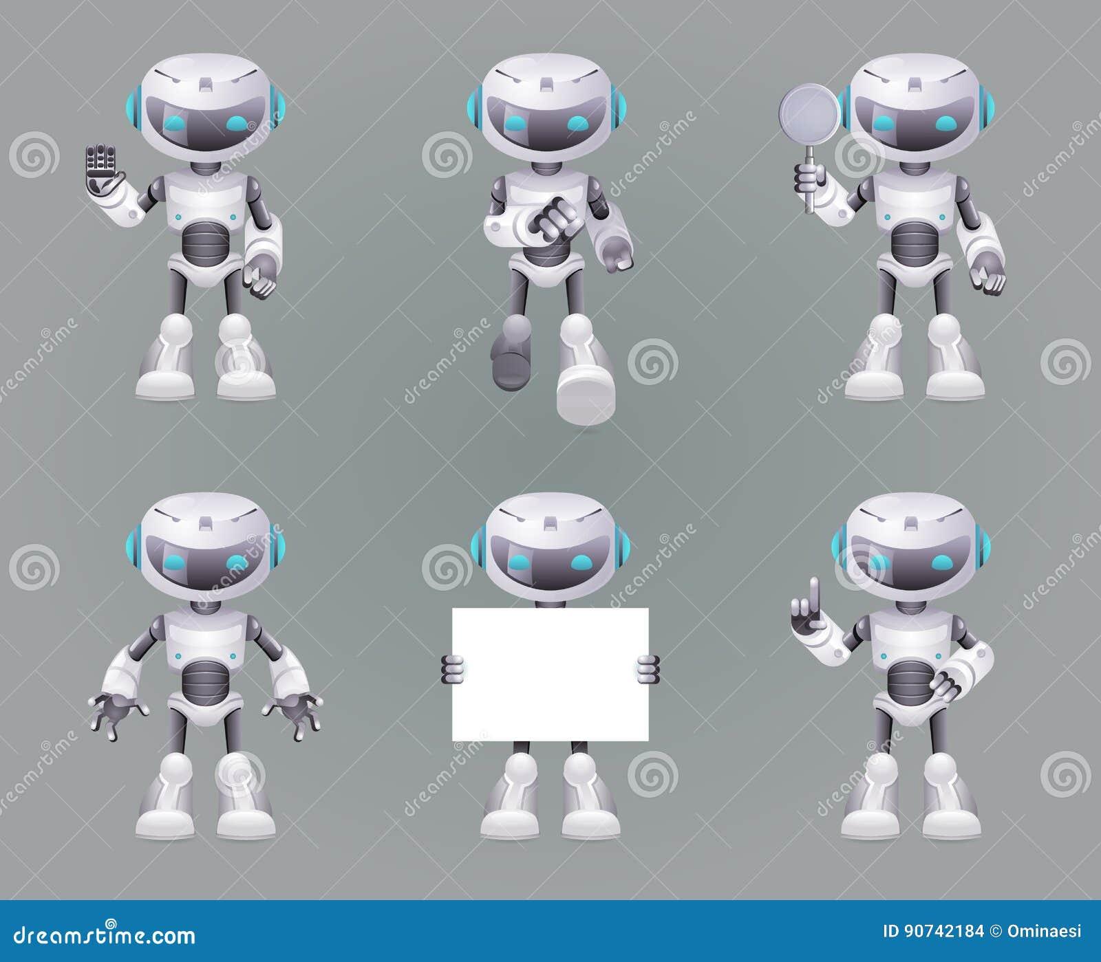 Различная иллюстрация вектора установленного дизайна значков 3d научной фантастики технологии нововведения робота представлений б