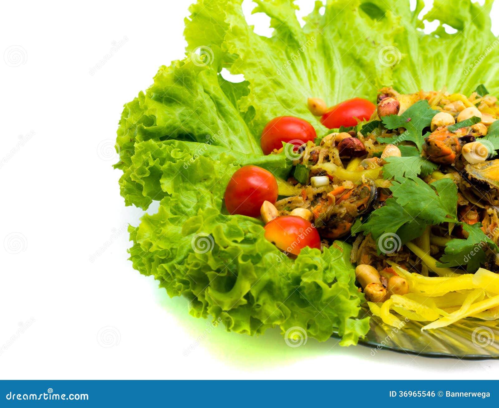 Раковины салата еды Таиланда.