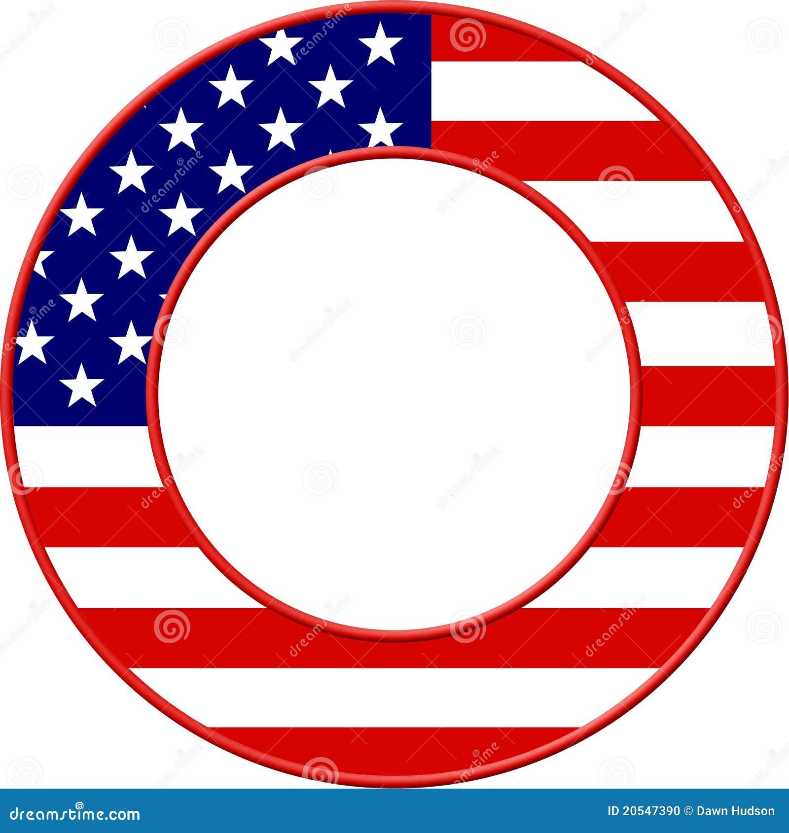 рамка американского флага