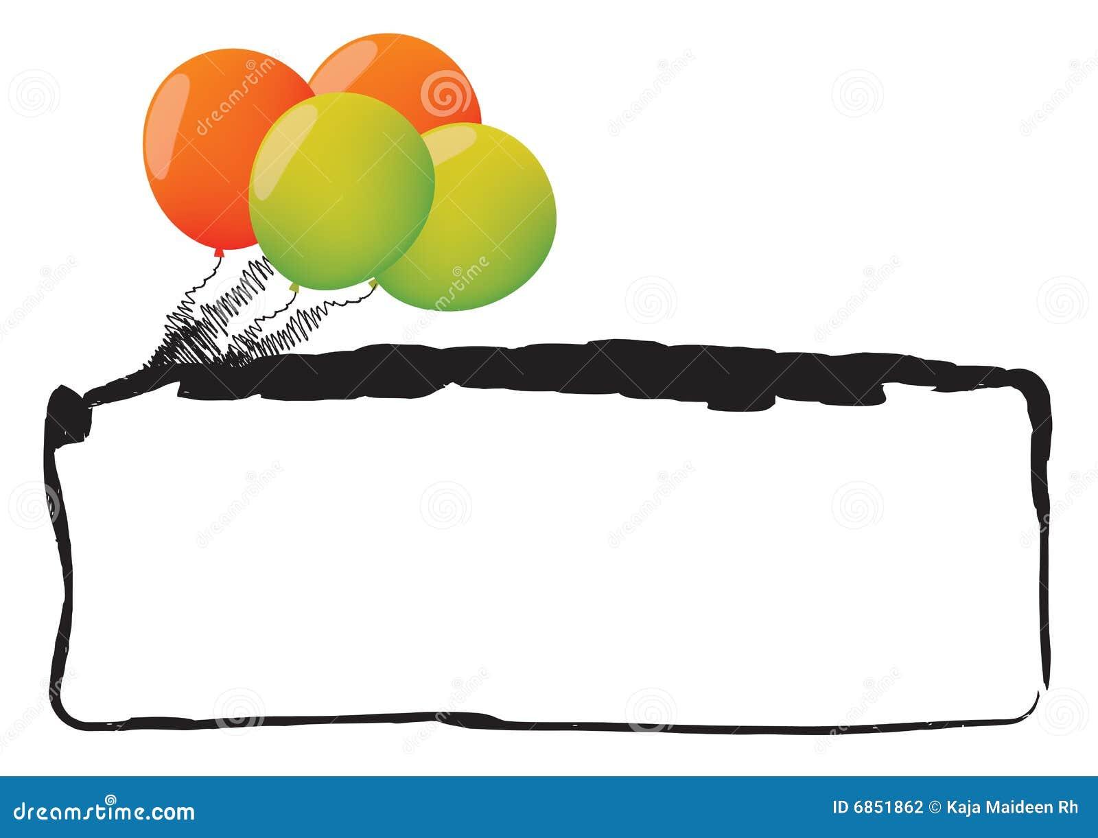 рамка воздушного шара
