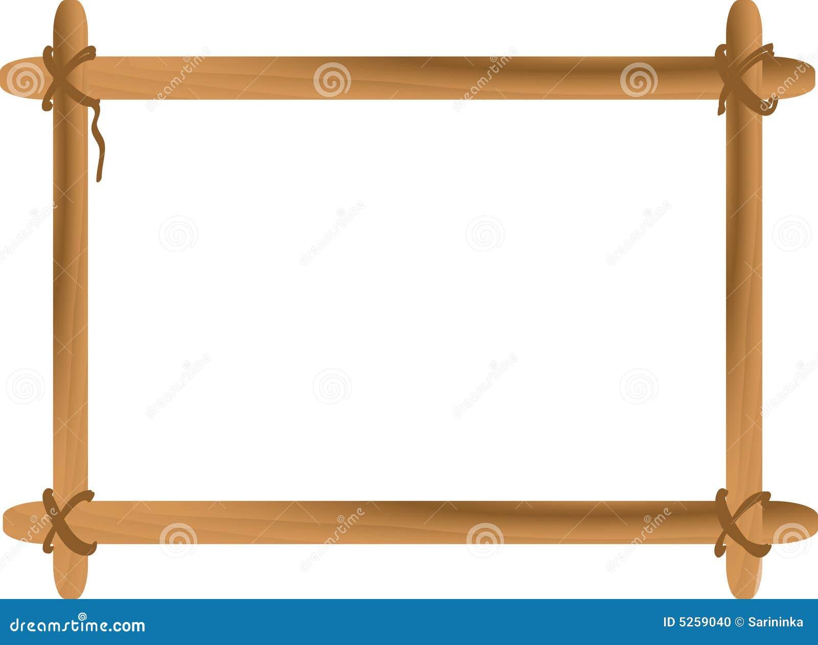 рамка деревянная иллюстрация вектора иллюстрации насчитывающей