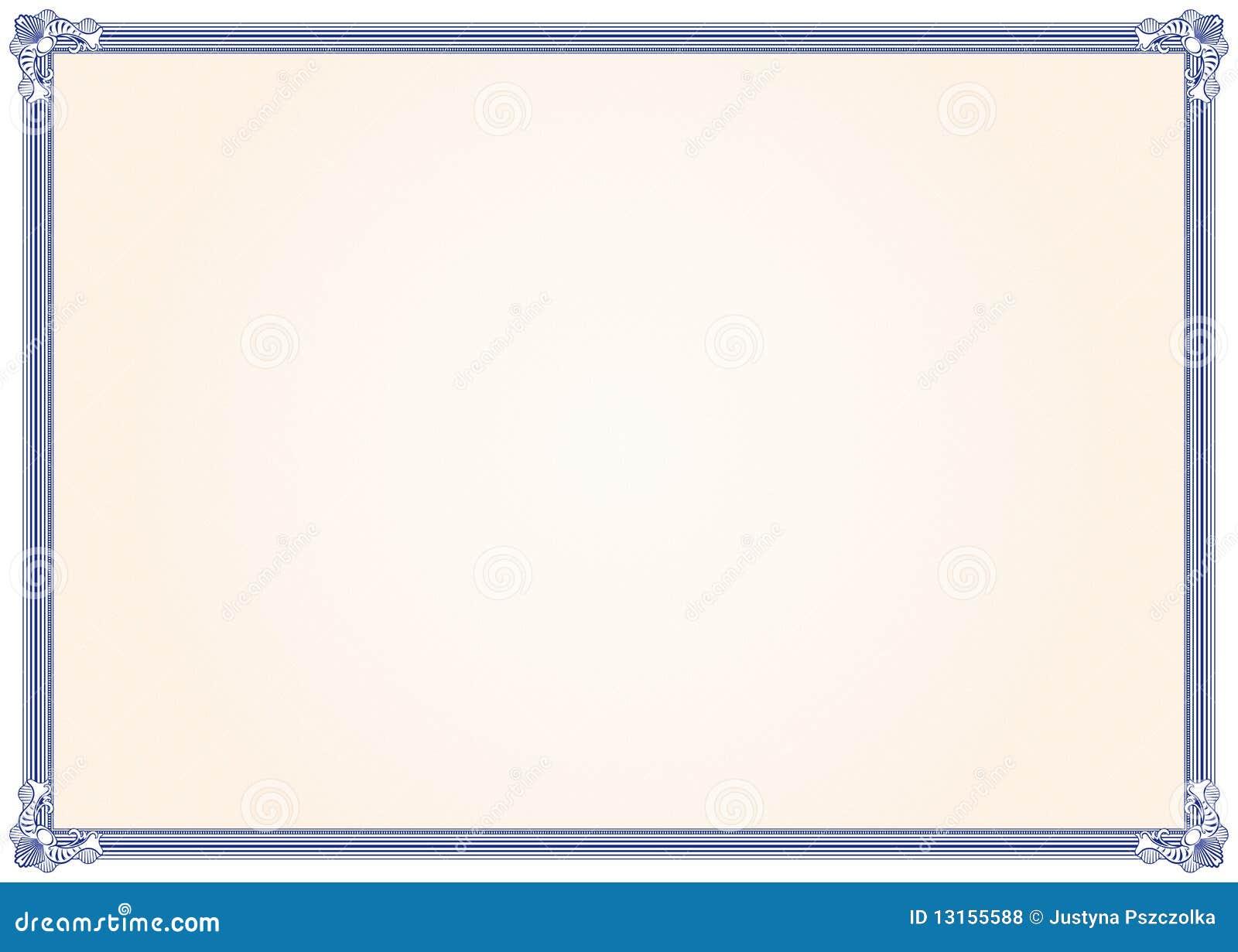 Рамка guilloche для сертификата диплома или кредитки Иллюстрация  рамка диплома Стоковые Фотографии rf