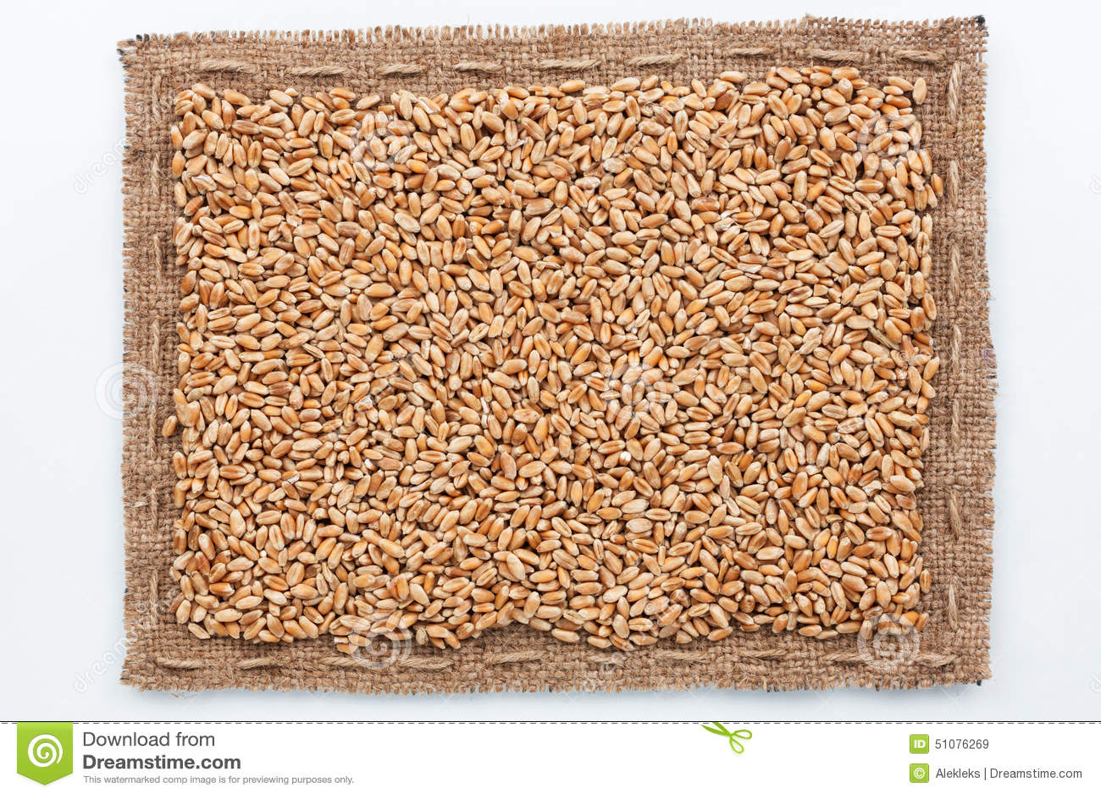 Рамка зерна мешковины и пшеницы