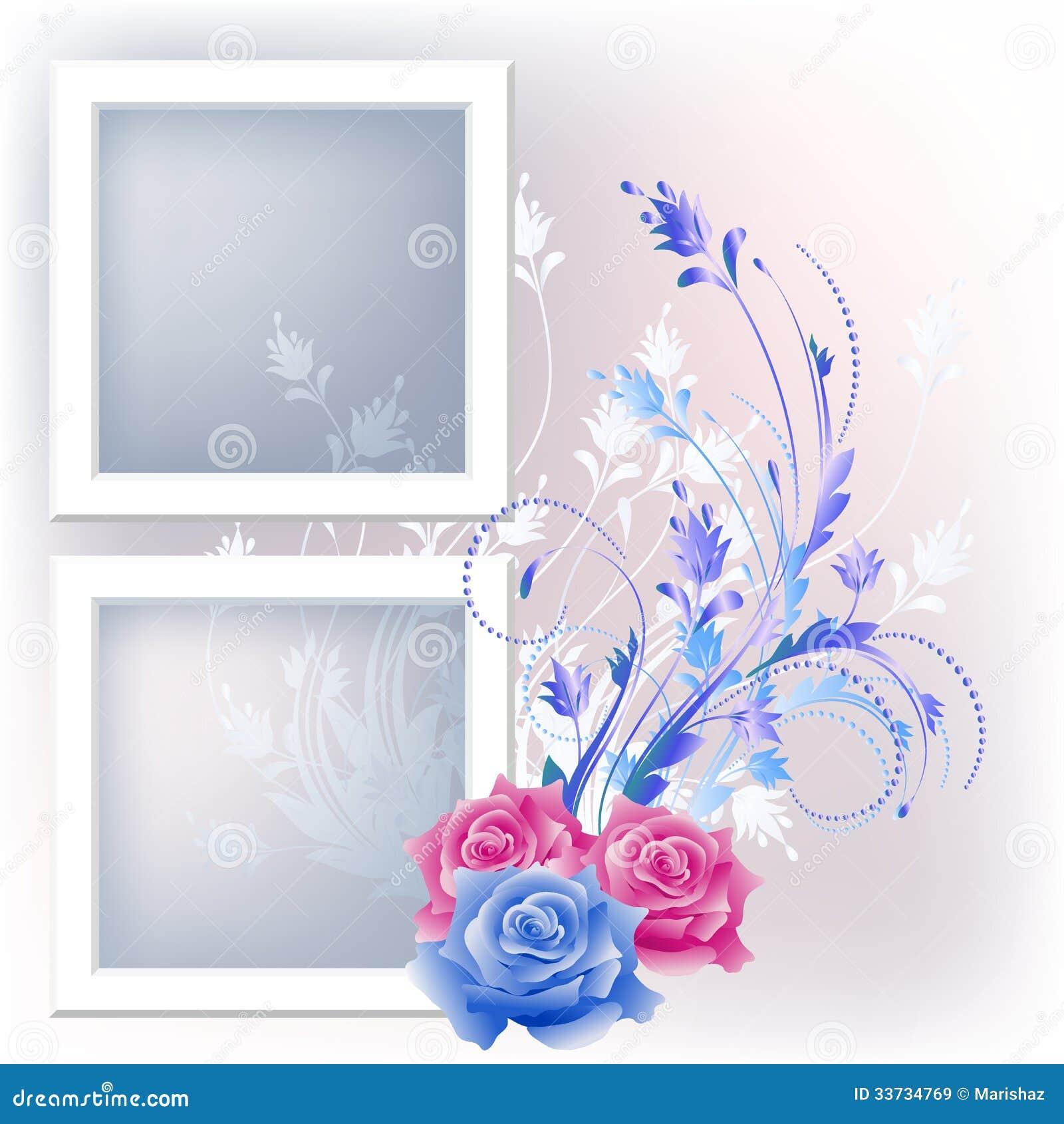 Рамка и цветки фото