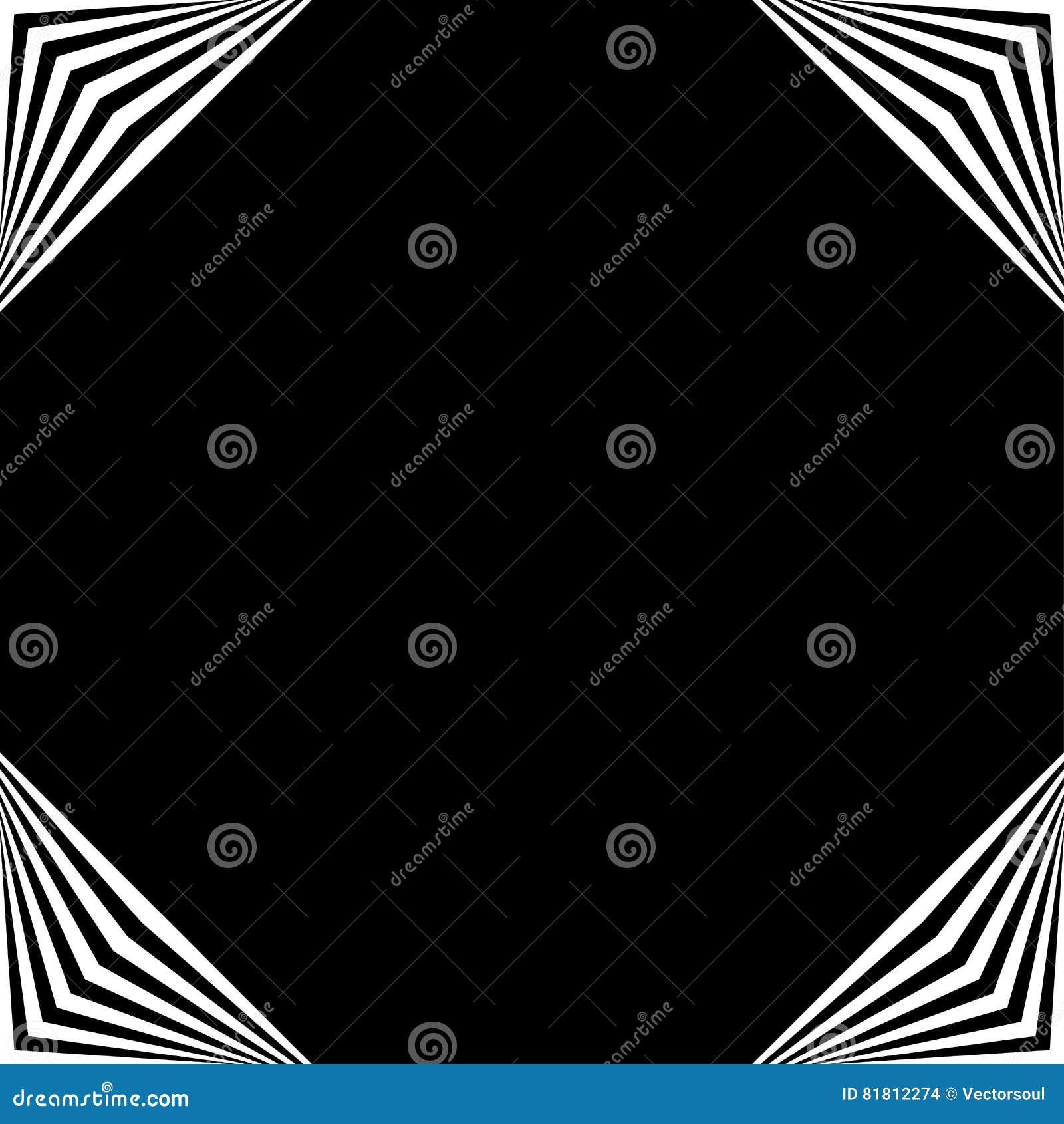 Рамка квадратного формата геометрическая, элемент границы с украшением на