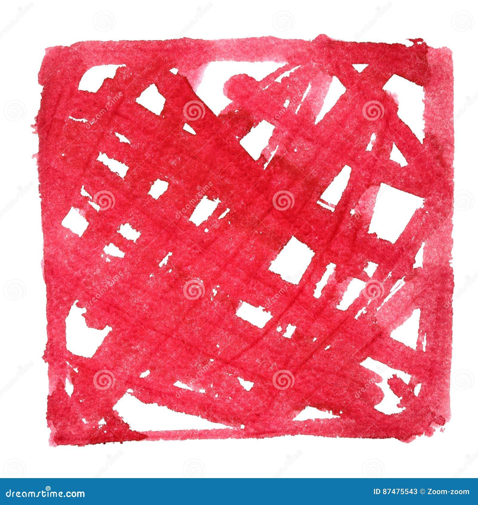 Рамка красного цвета Doodle