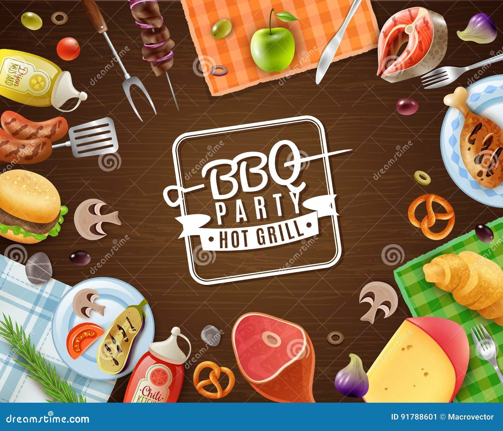Рамка партии BBQ