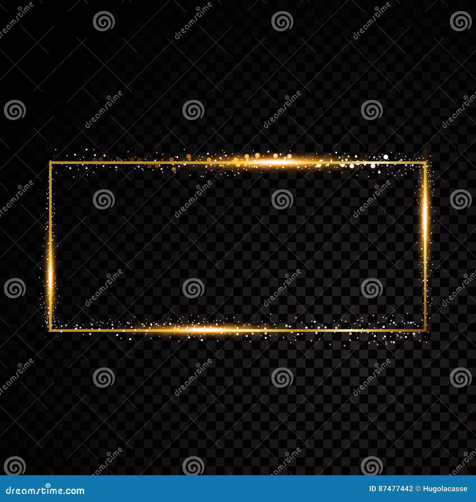 Рамка прямоугольника вектора Сияющее знамя на черной прозрачной предпосылке также вектор иллюстрации притяжки corel
