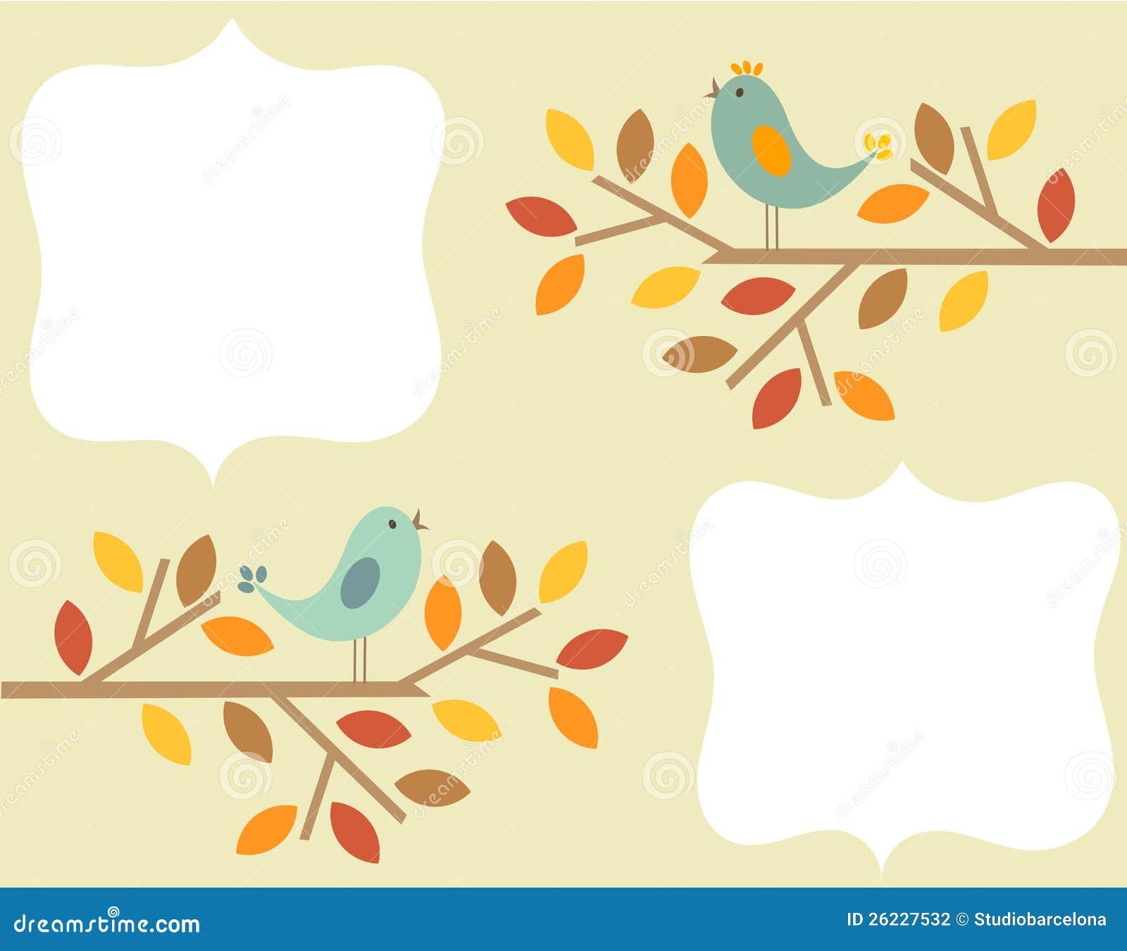 Рамки для текста картинки улетающих птиц осенью
