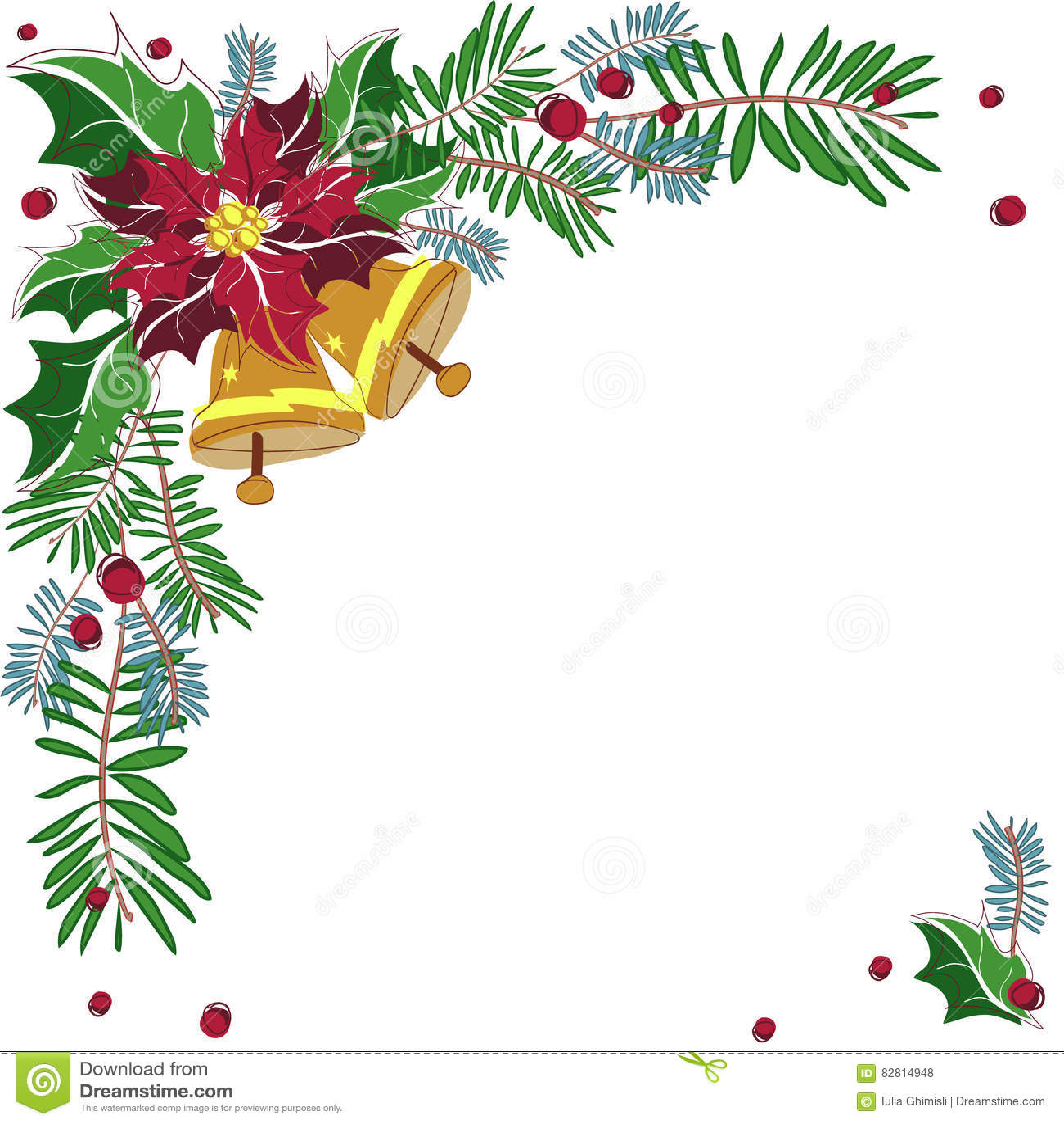 Рамка рождества угловая декоративная