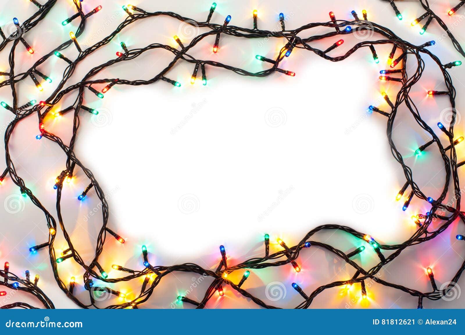 Рамка светов рождества