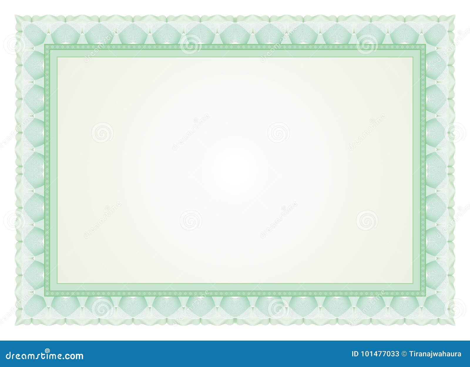 Рамка сертификата - граница