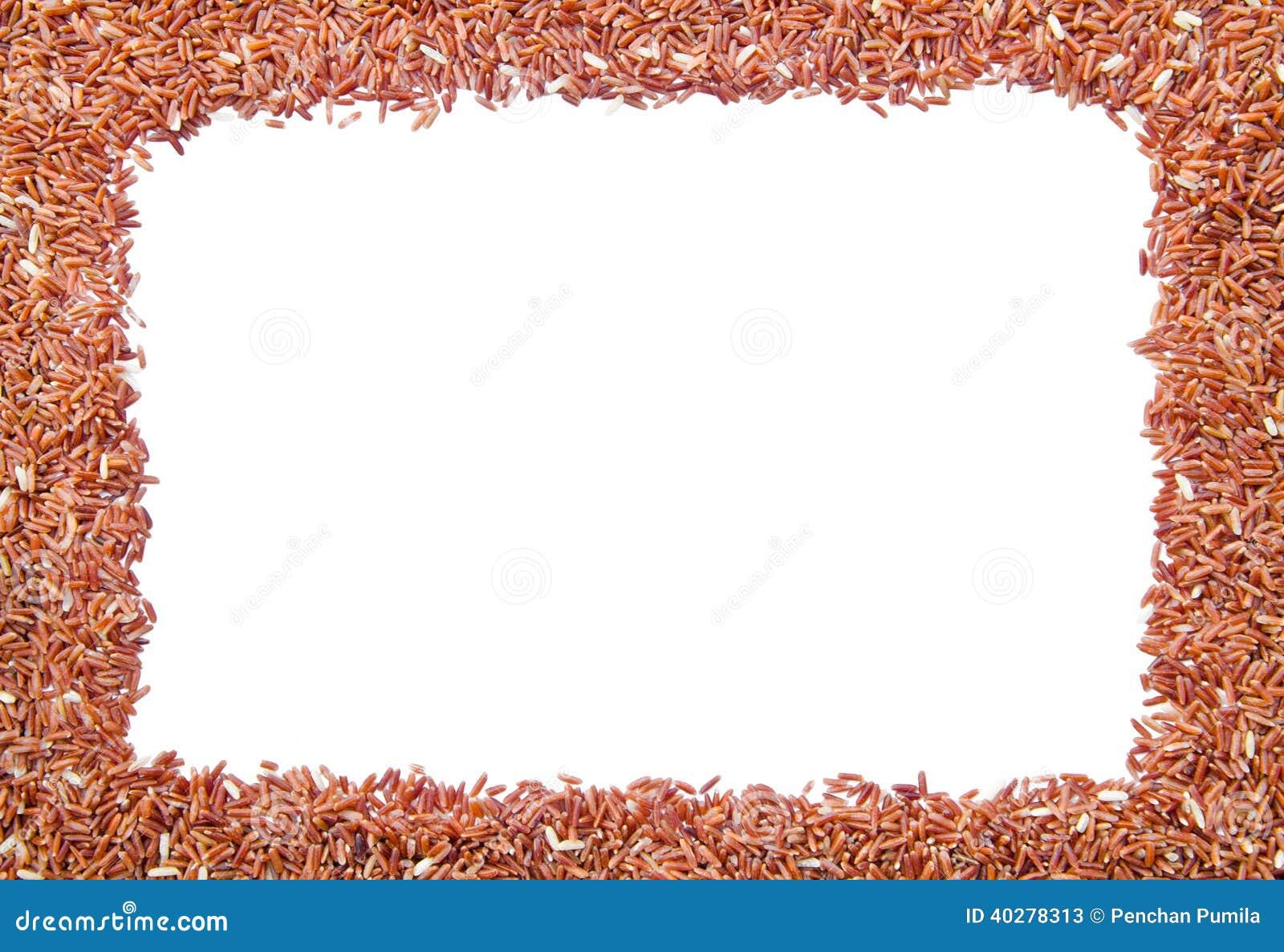 Рамка сырцового коричневого риса