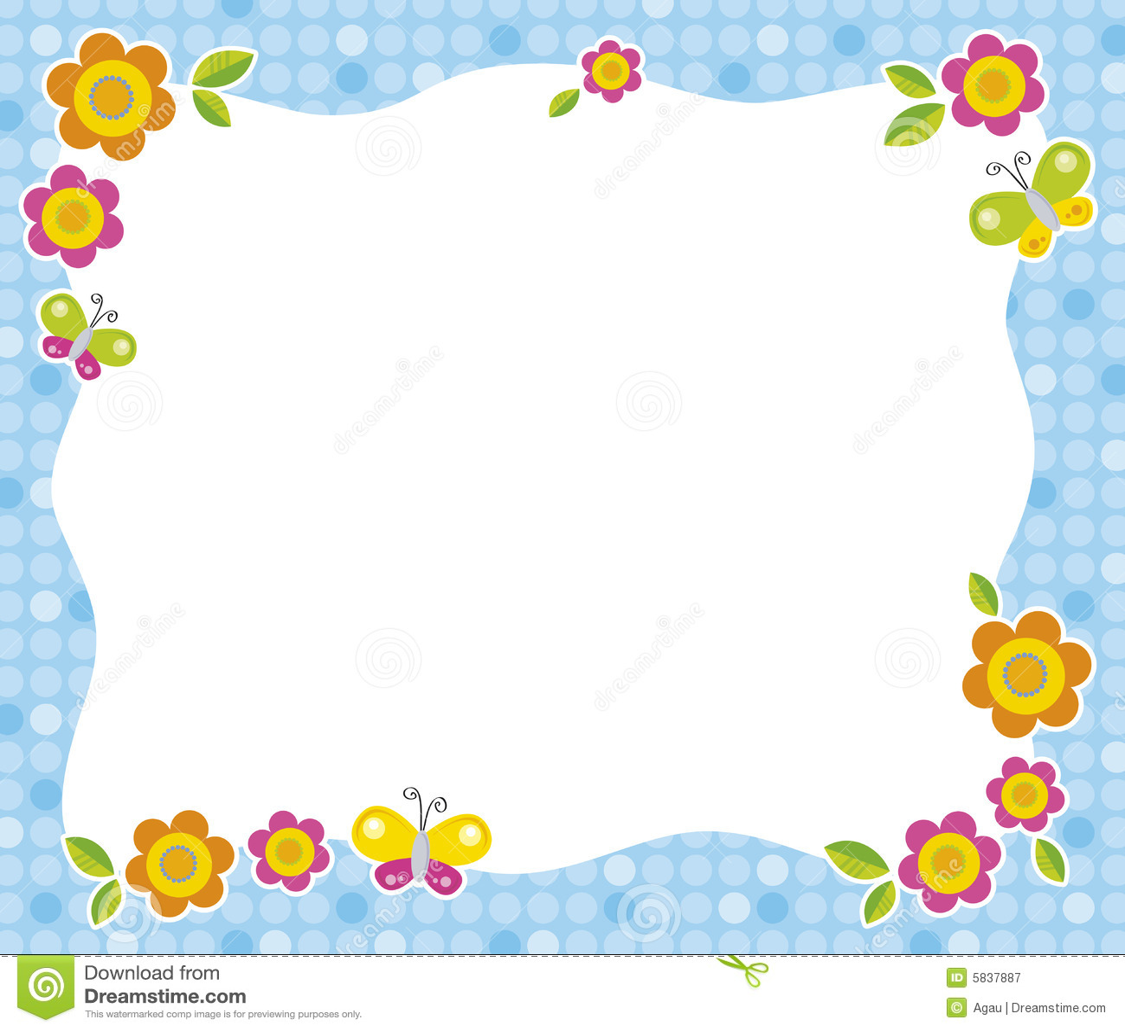 рамка цветка