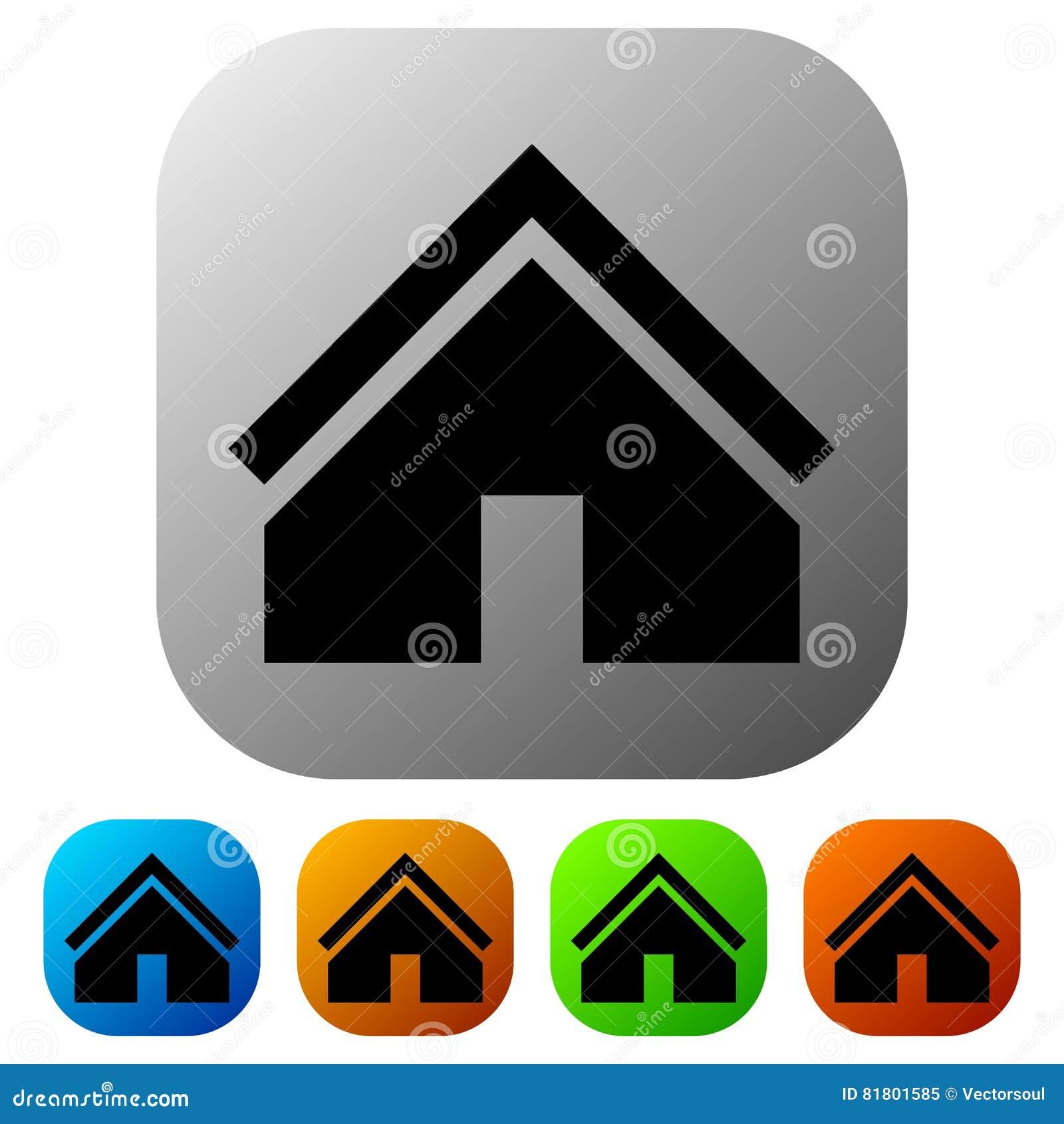 Расквартируйте значок в цвете 5 для концепции недвижимости/домашней кнопки