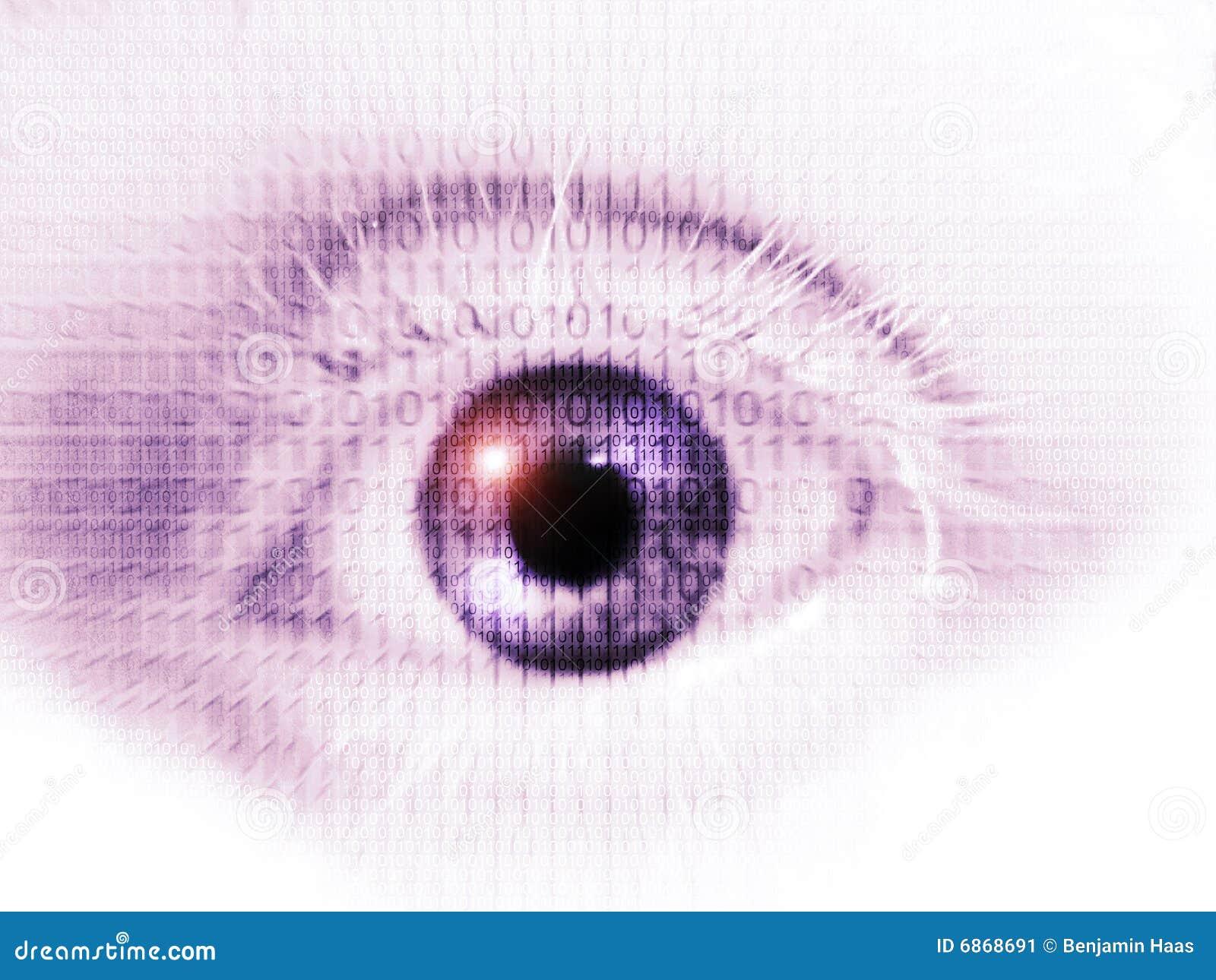 Раскройте глаз с бинарным Кодом