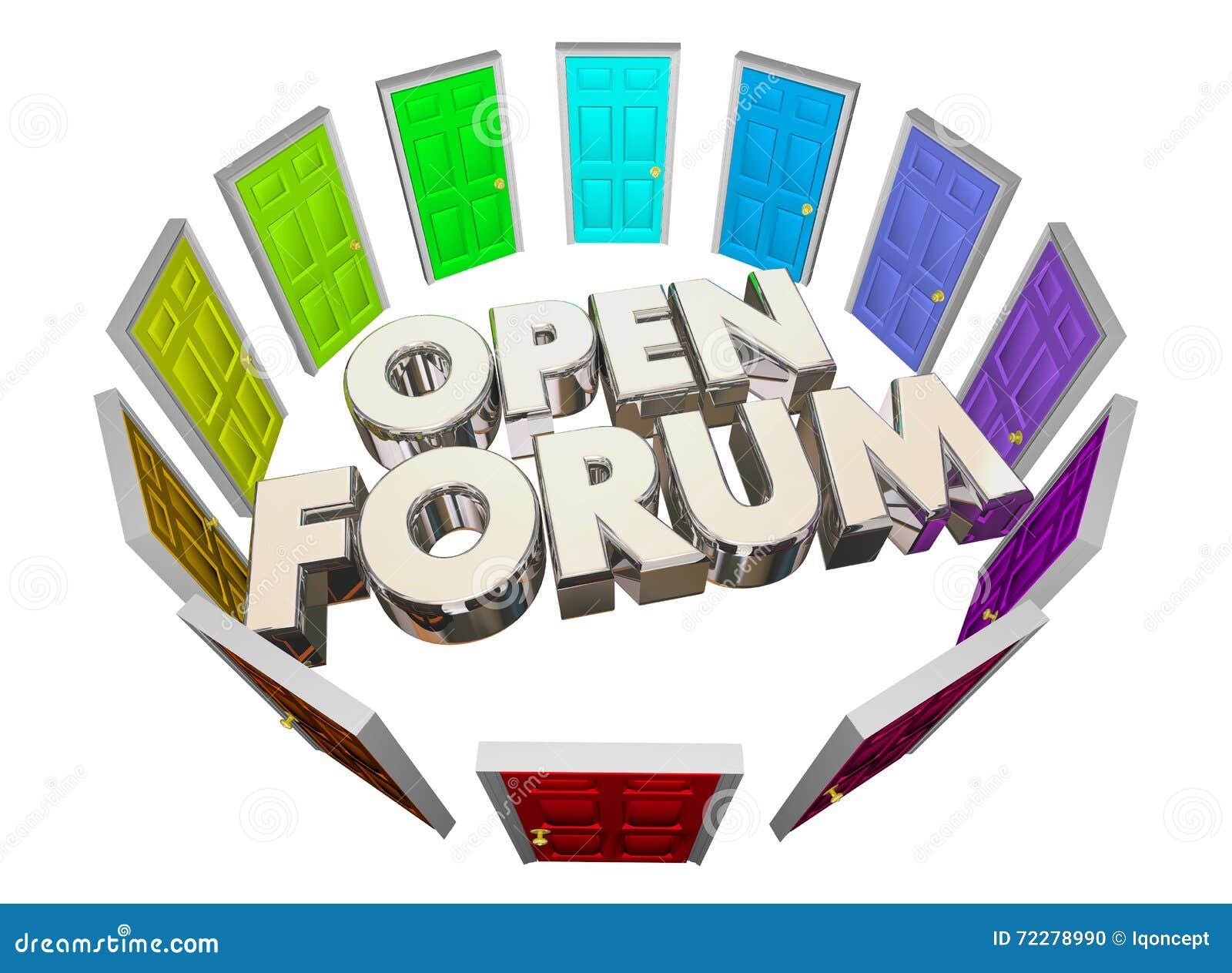 Download Раскройте форум много слов общественной встречи дверей Иллюстрация штока - иллюстрации насчитывающей встреча, дверь: 72278990