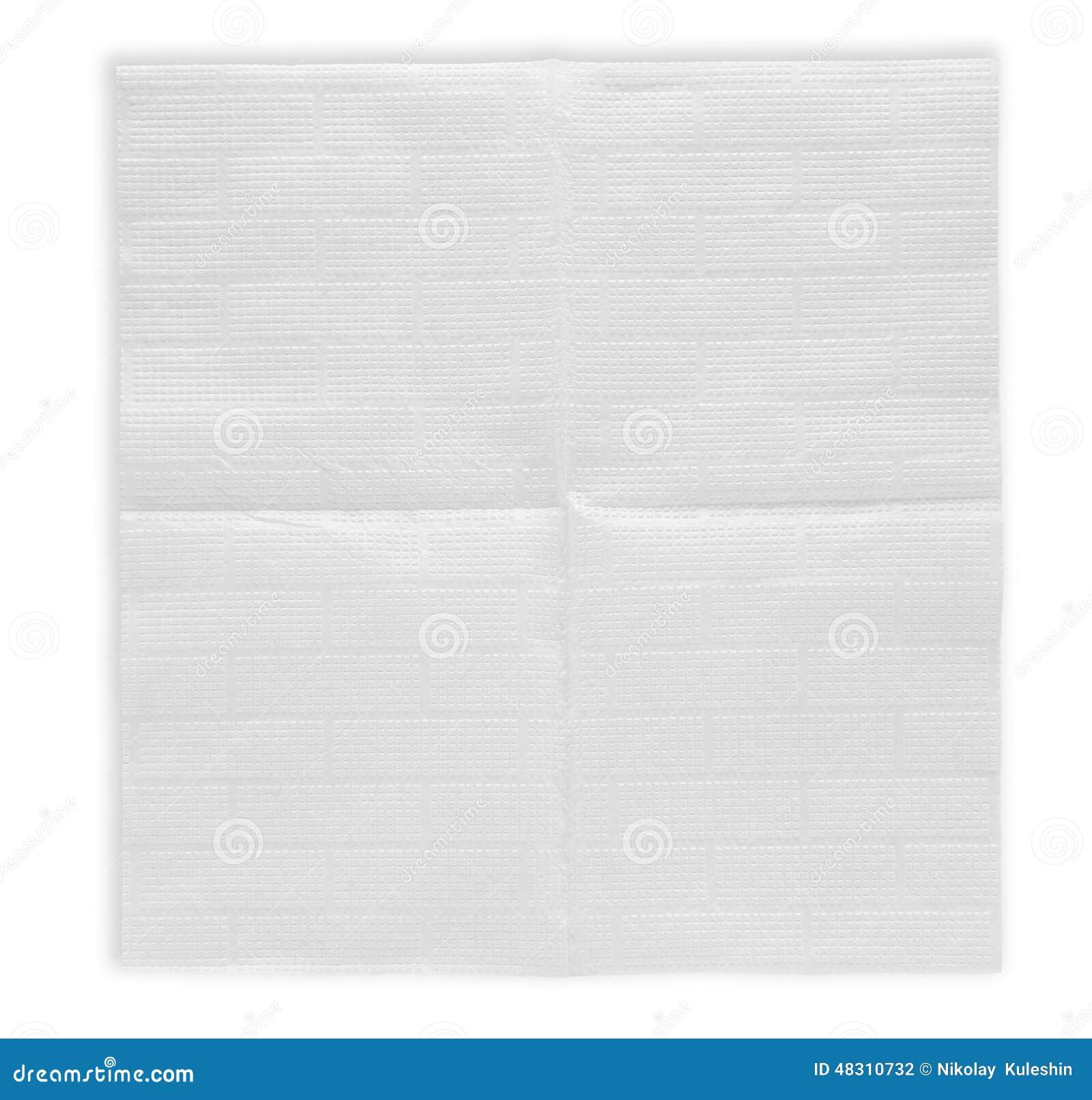 Раскрытая бумажная салфетка